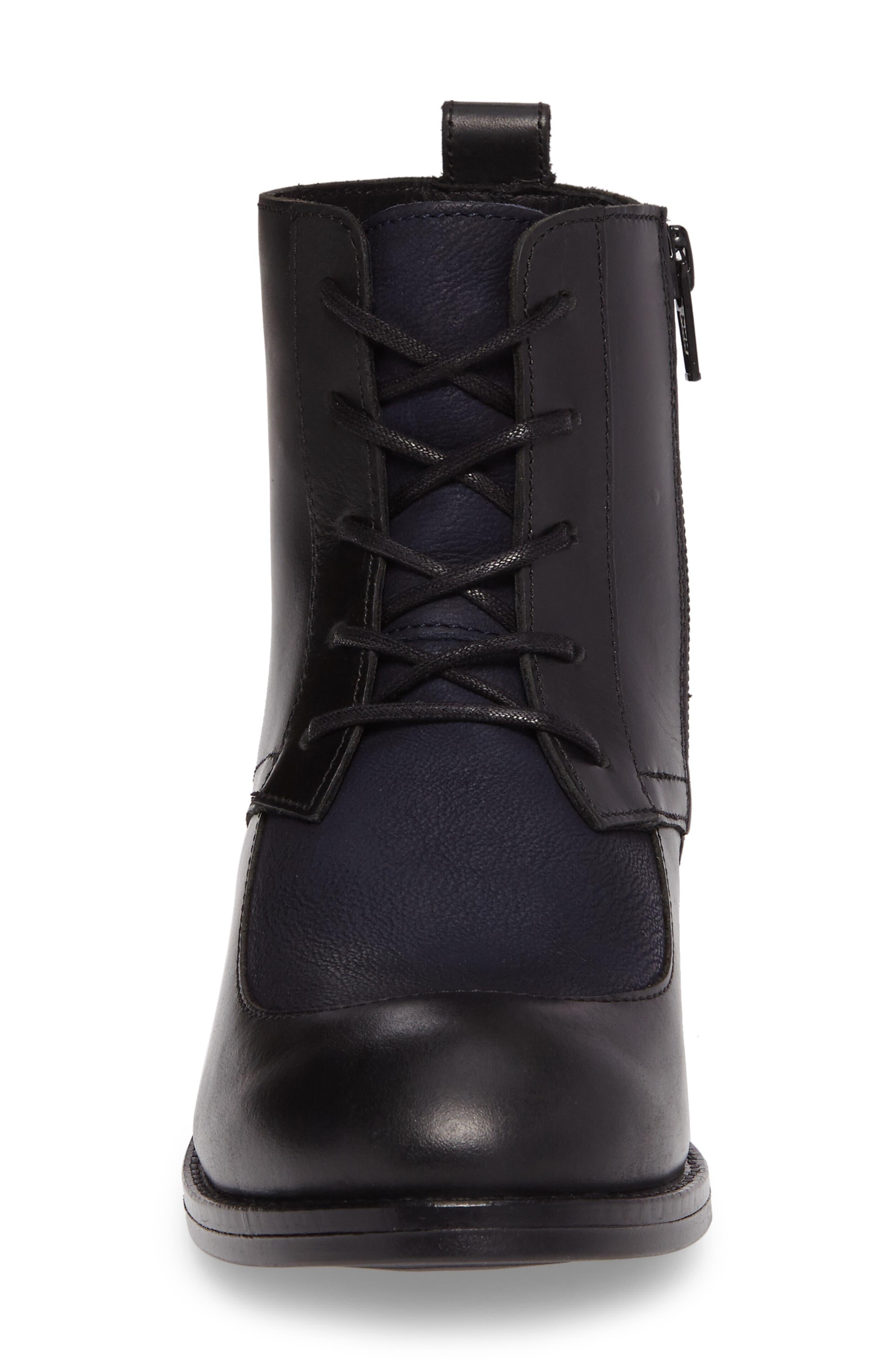 Arty Boot,                             Alternate thumbnail 4, color,                             Black/ Ocean Leather