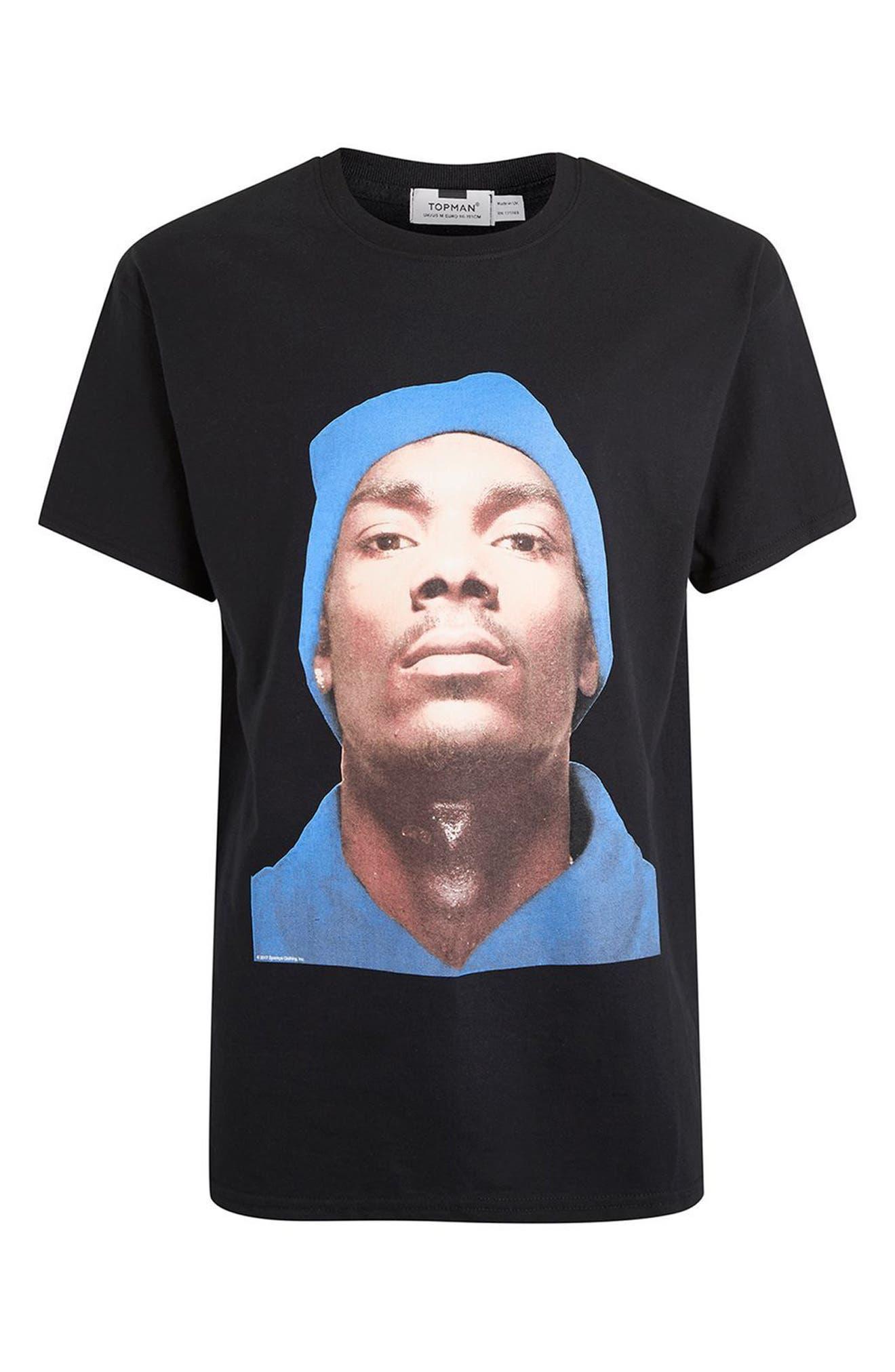 Snoop Dogg T-Shirt,                             Alternate thumbnail 4, color,                             Black Multi