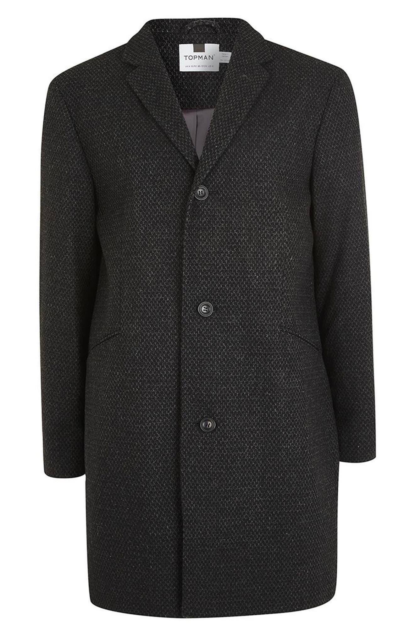 Alternate Image 4  - Topman Textured Overcoat