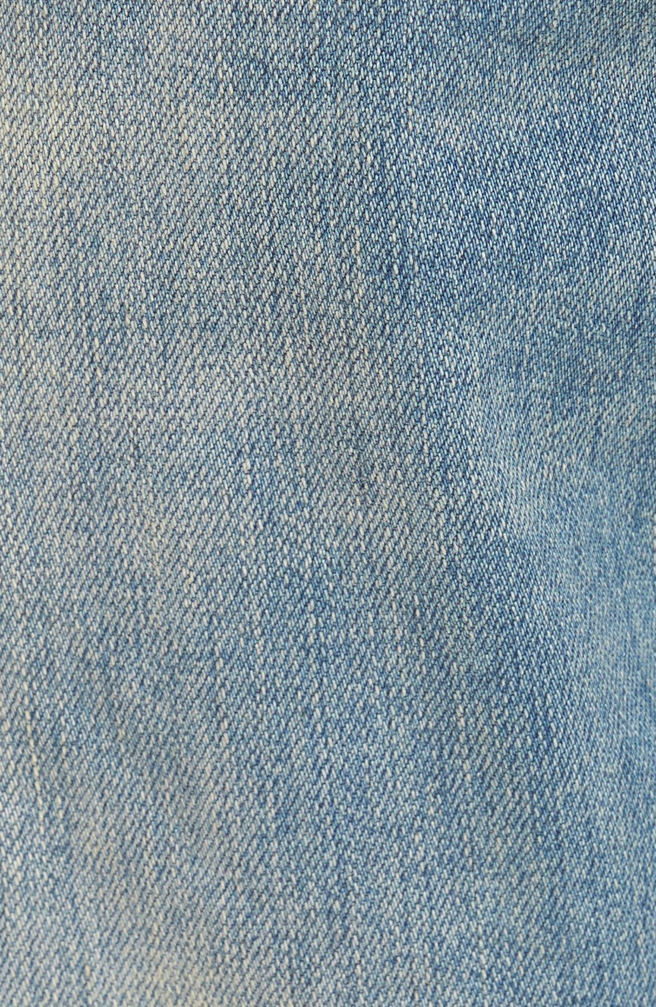 Alternate Image 6  - Represent Slim Fit Destroyed Jeans