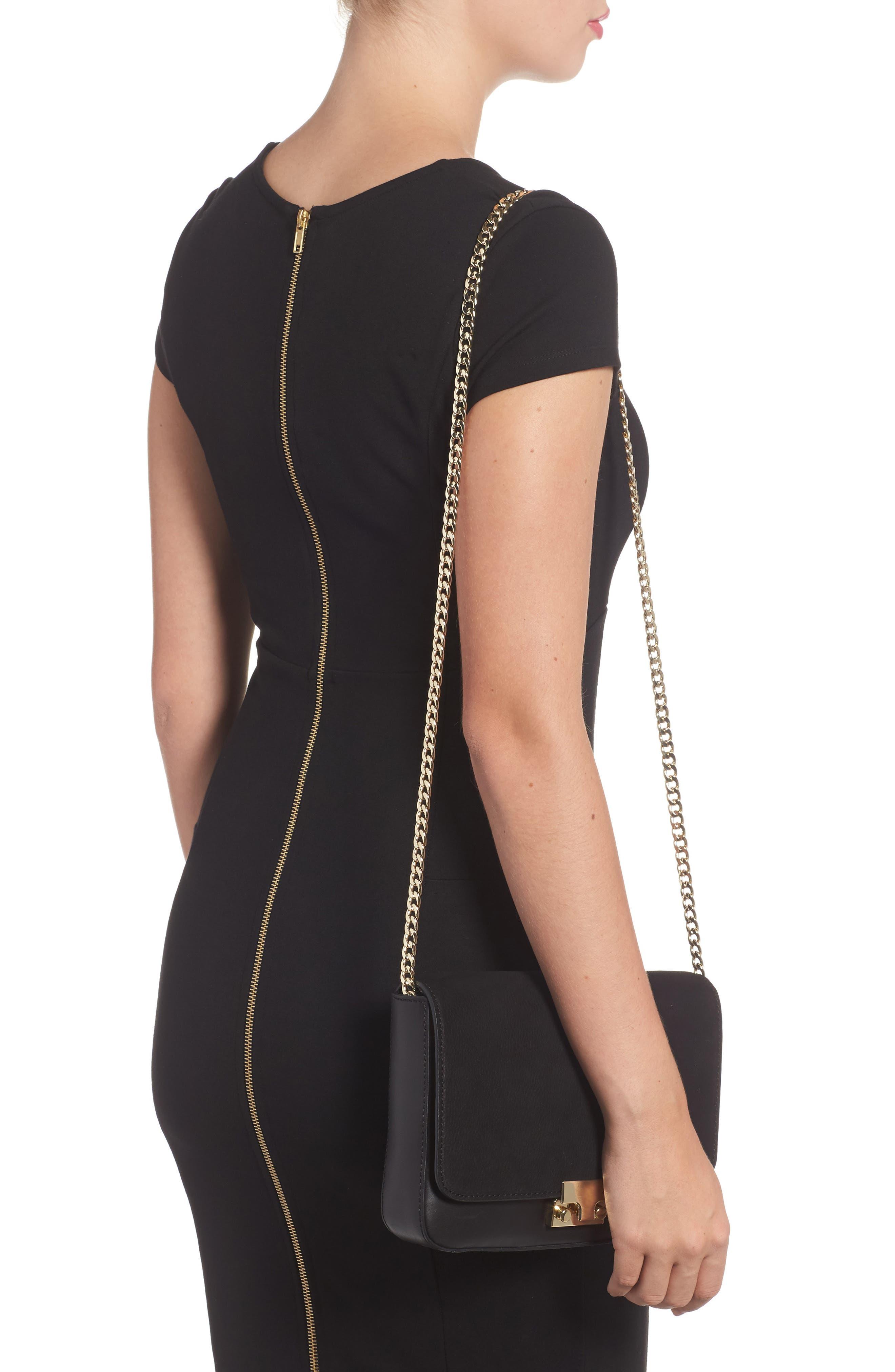 Lock Shoulder Bag,                             Alternate thumbnail 2, color,                             Black