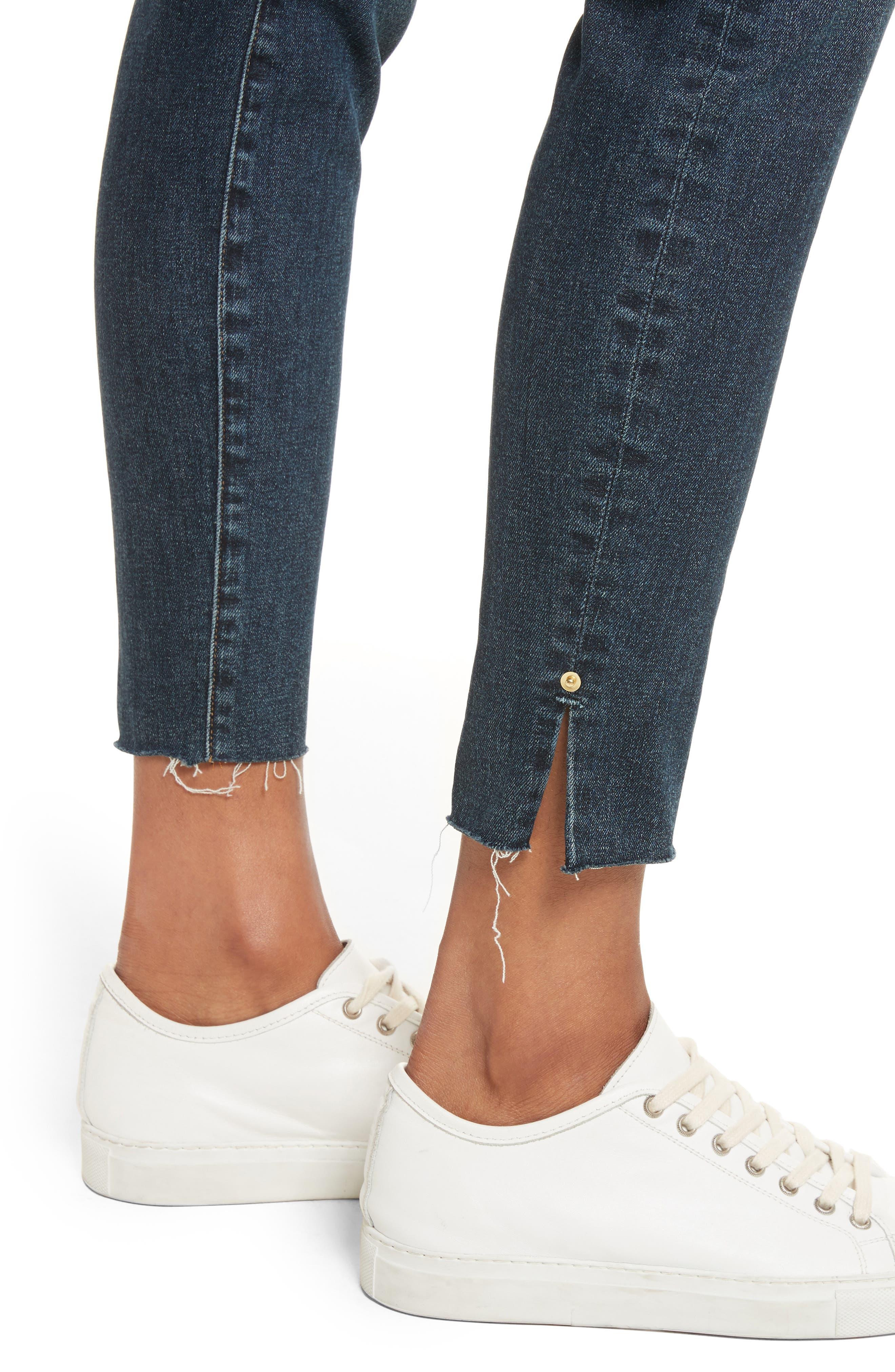 Le High Slit Ankle Skinny Jeans,                             Alternate thumbnail 4, color,                             Pelton