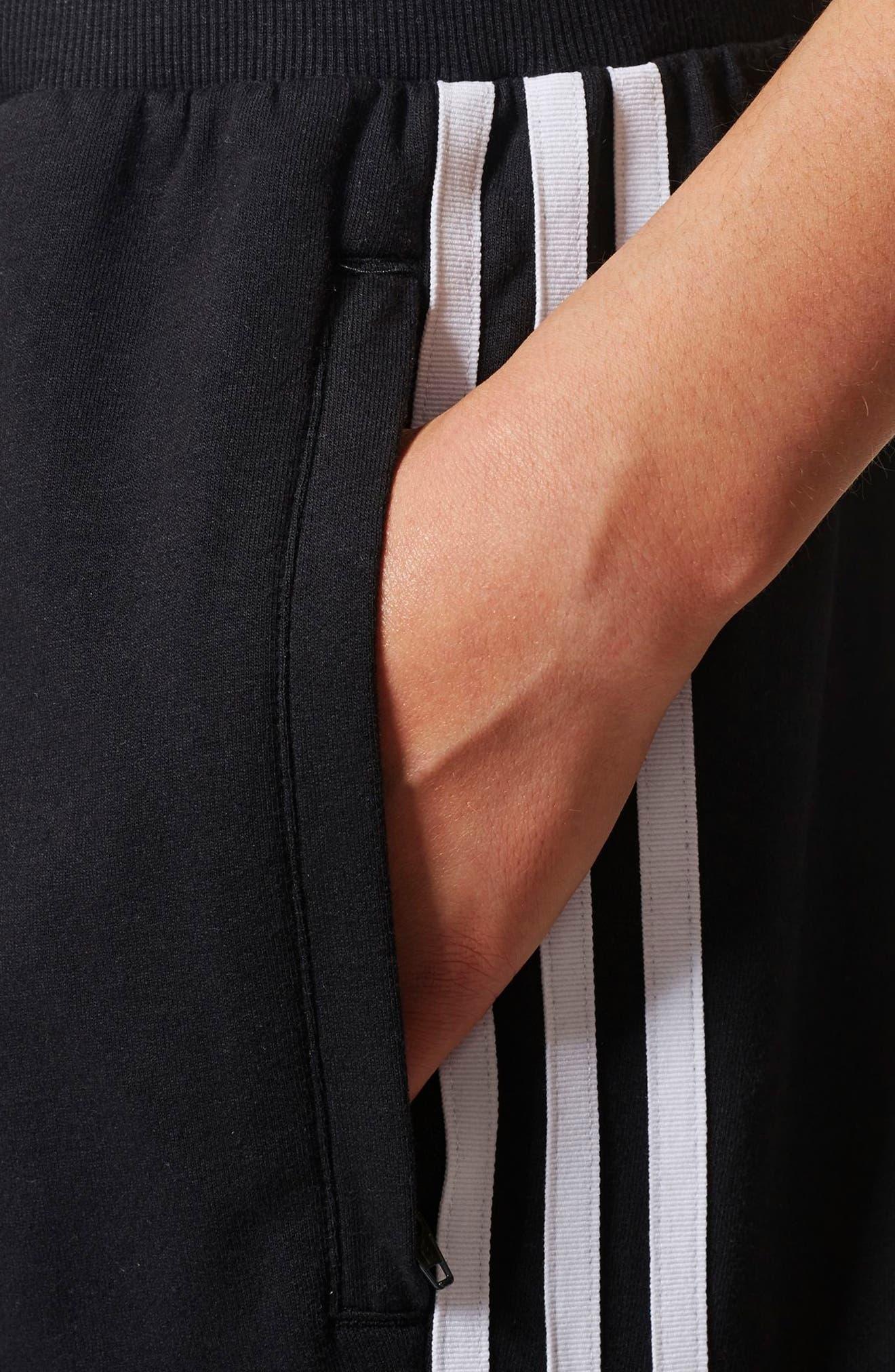 3-Stripes Tapered Pants,                             Alternate thumbnail 6, color,                             Black