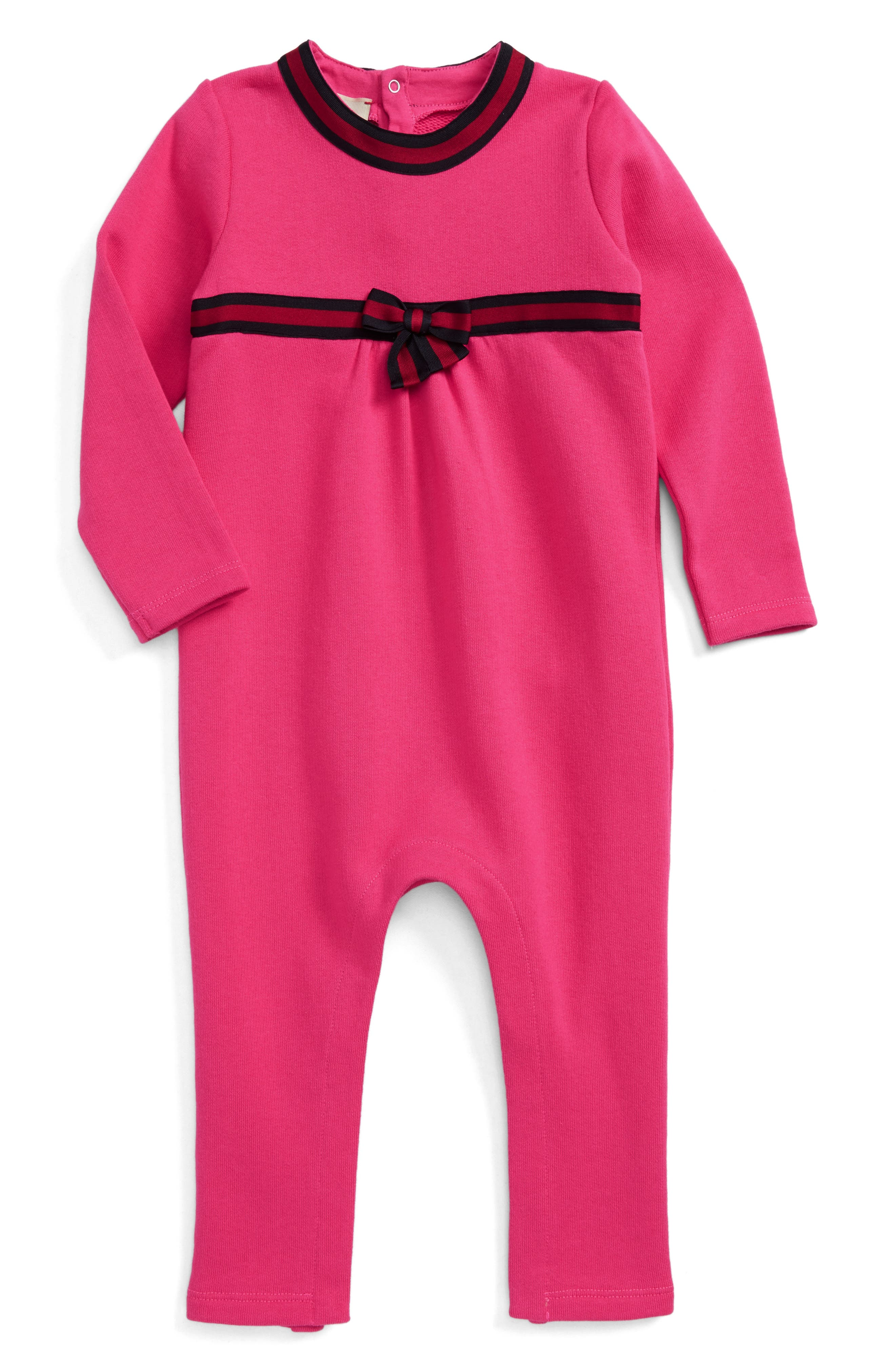 Alternate Image 1 Selected - Gucci Knit Romper (Baby Girls)