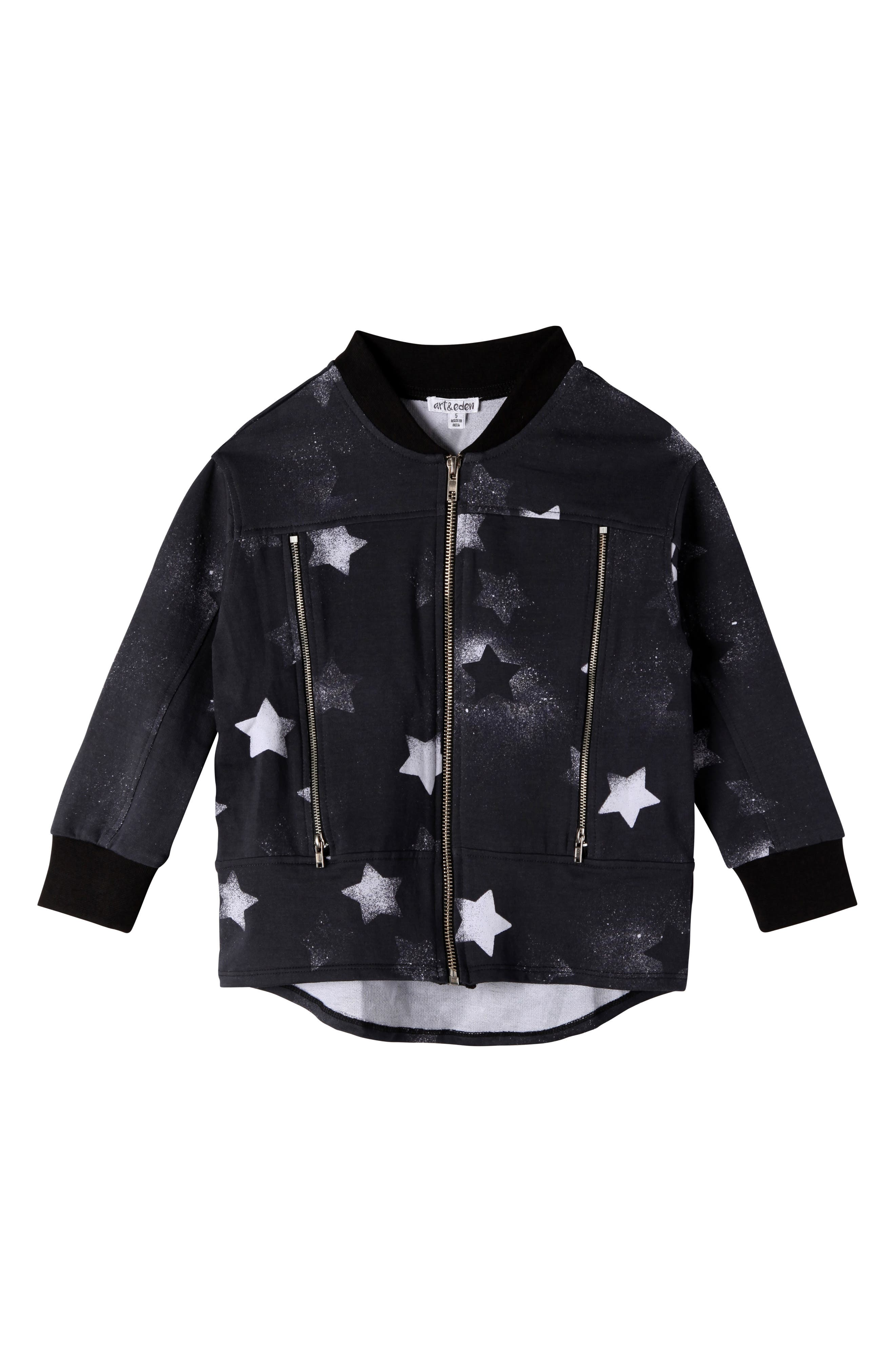 ART & EDEN Camilla Star Print Bomber Jacket