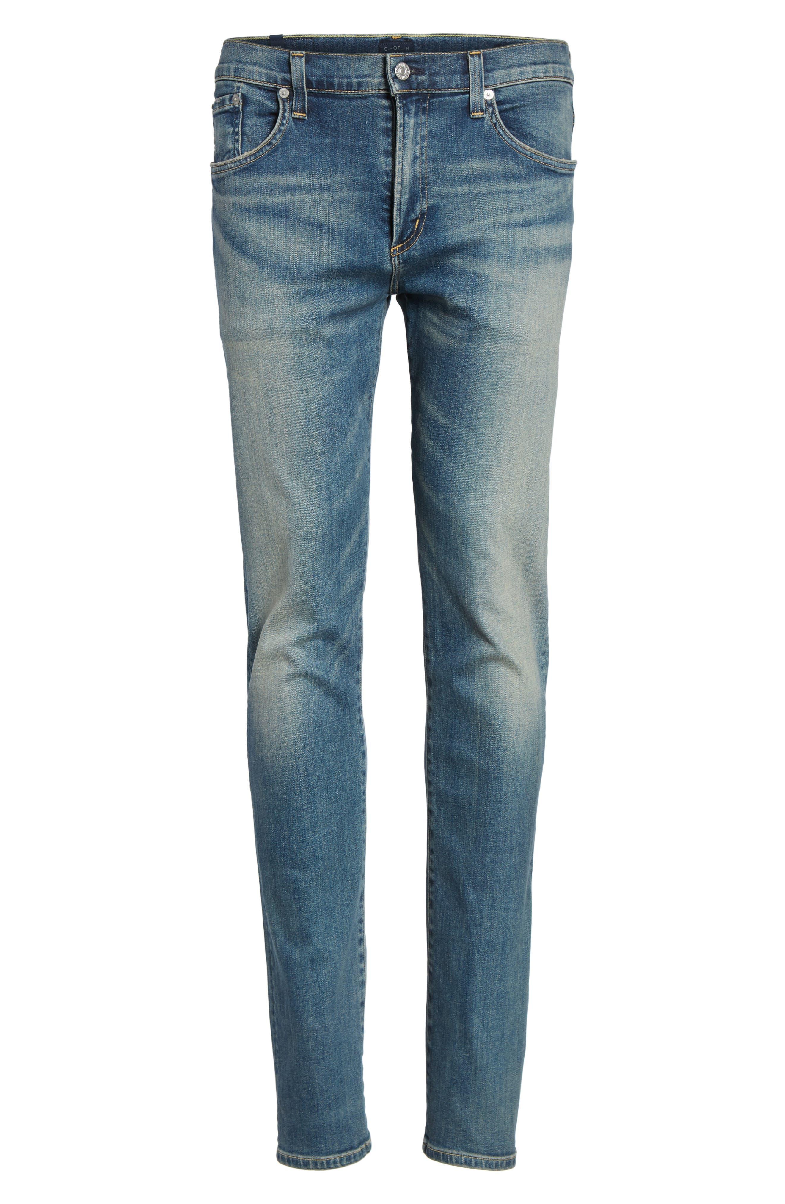 Core Slim Fit Jeans,                             Alternate thumbnail 6, color,                             Millais