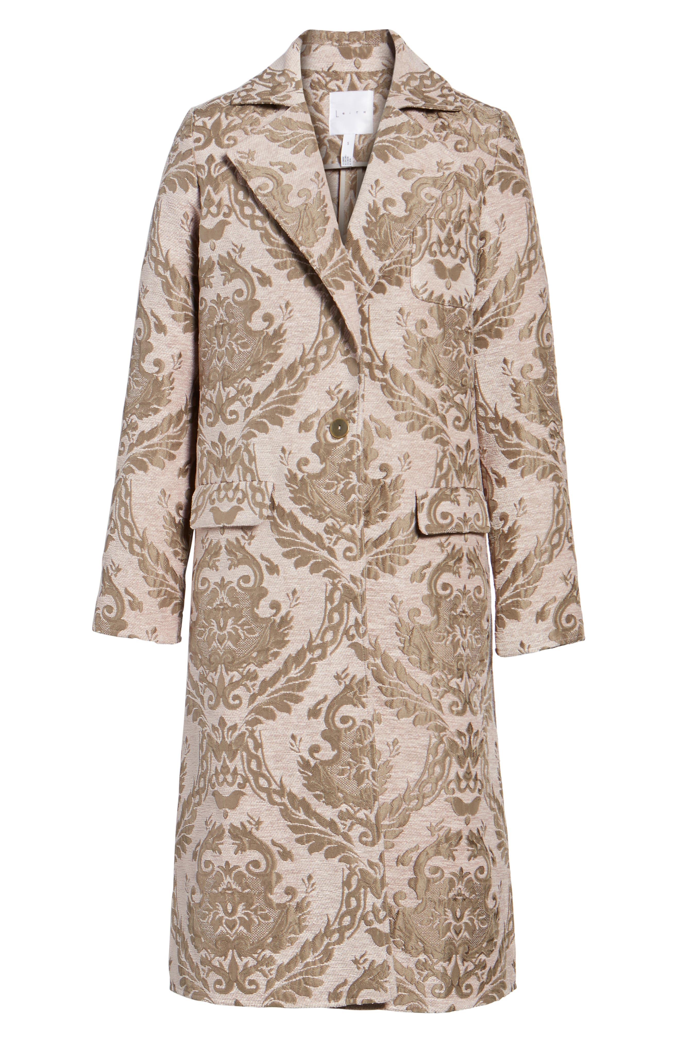 Alternate Image 6  - Leith Longline Jacquard Jacket