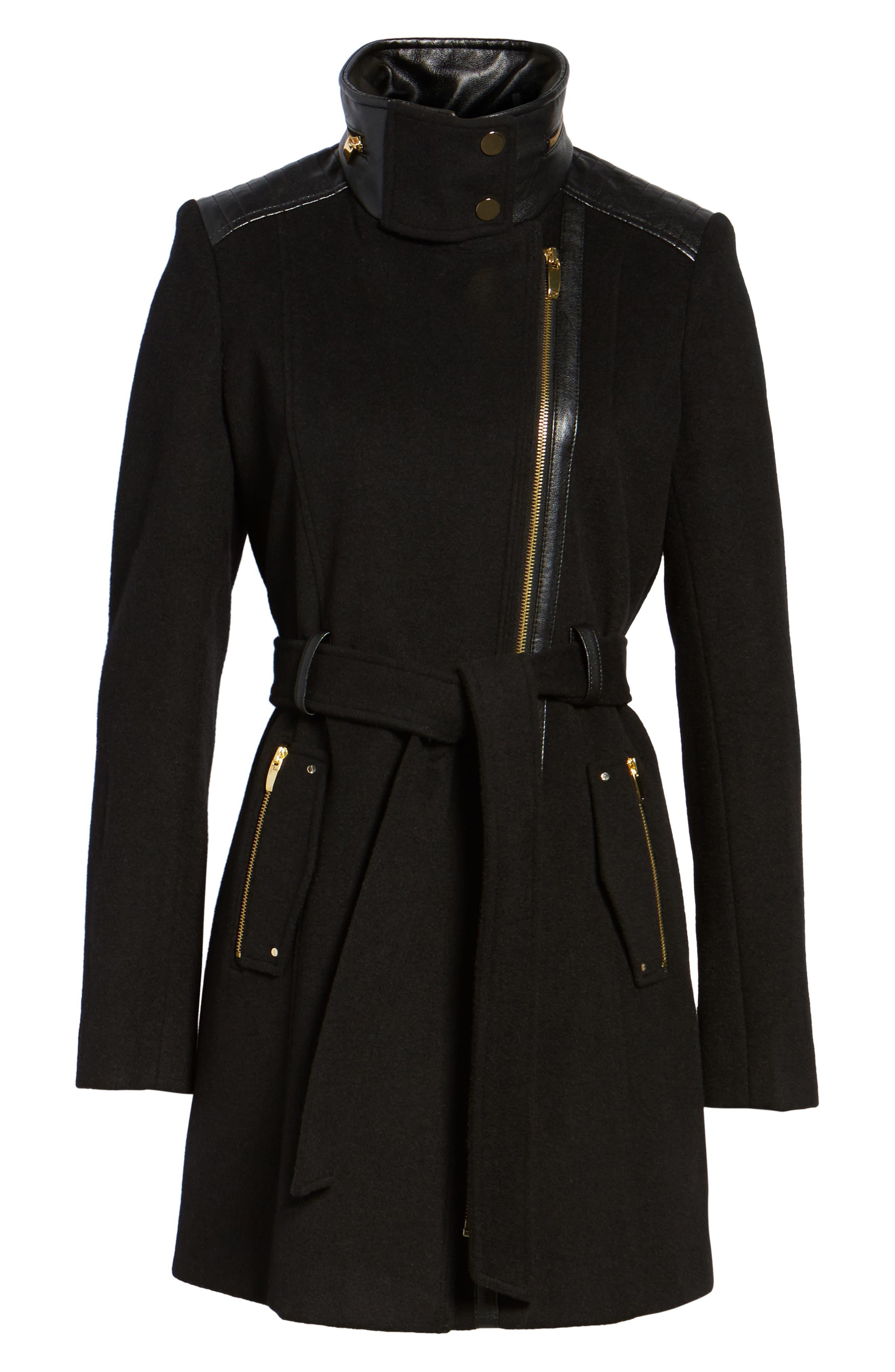 Alternate Image 6  - Via Spiga Wool Blend Coat