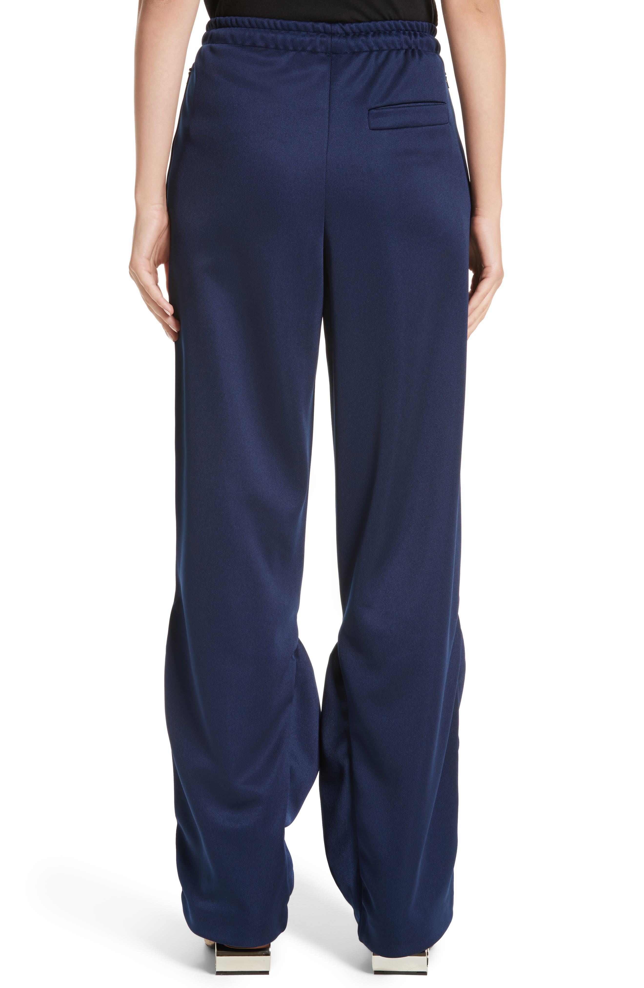 J.W.ANDERSON Jersey Pocket Hem Trousers,                             Alternate thumbnail 2, color,                             Midnight Blue