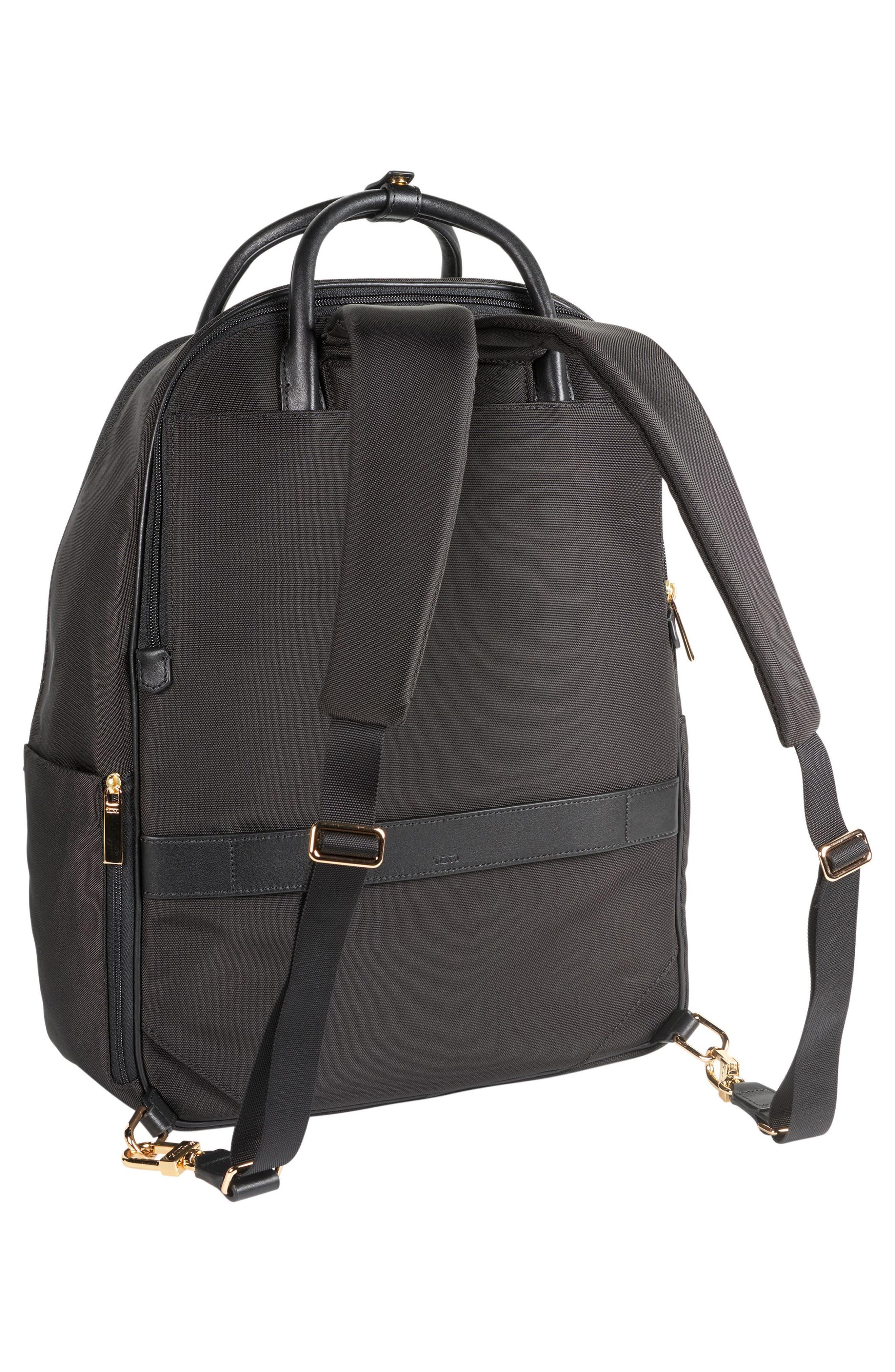 Larkin - Paterson Convertible Nylon Backpack,                             Alternate thumbnail 3, color,                             Black