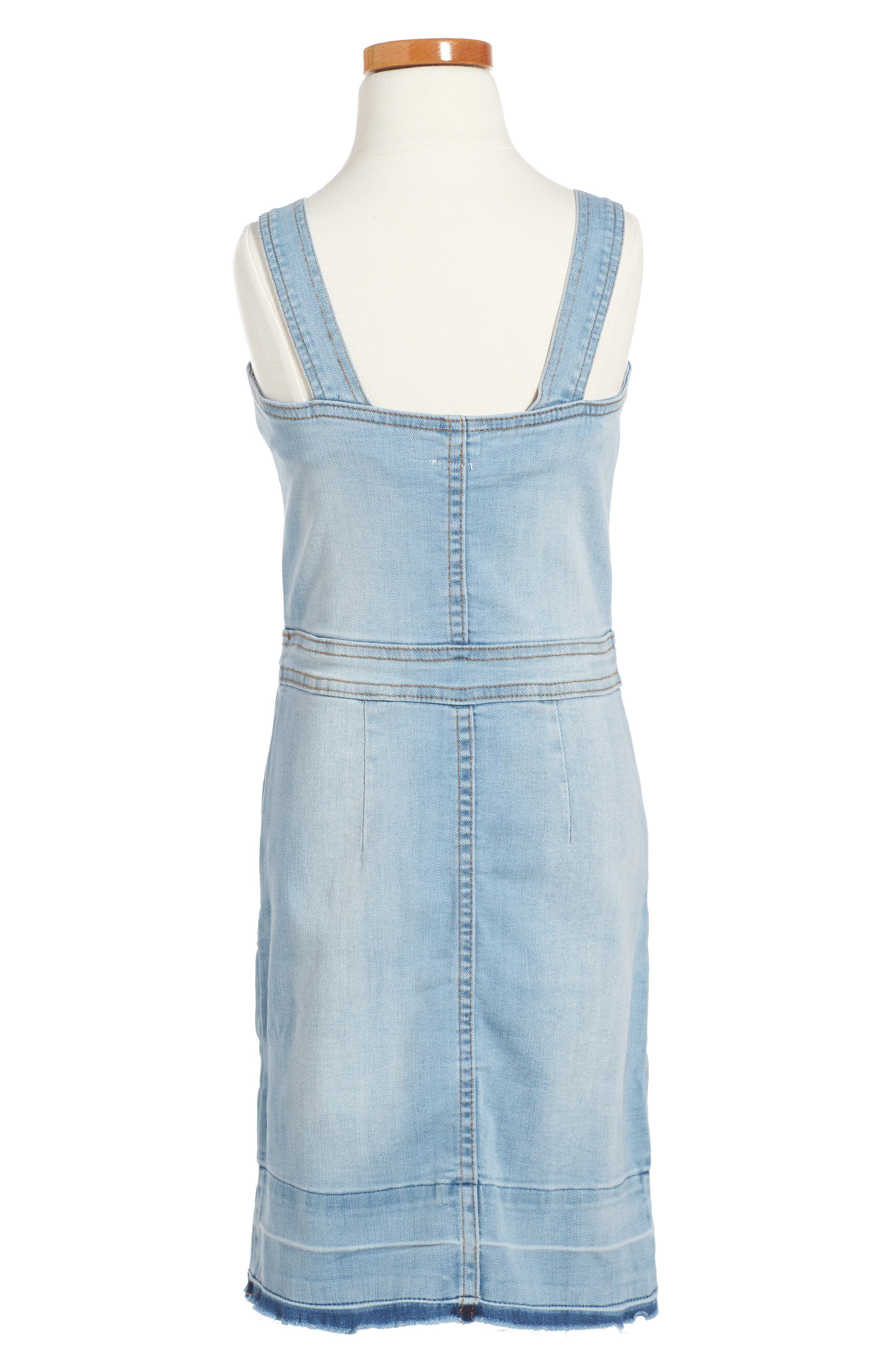 Alternate Image 2  - Hudson Kids Kelly Denim Overall Dress (Big Girls)