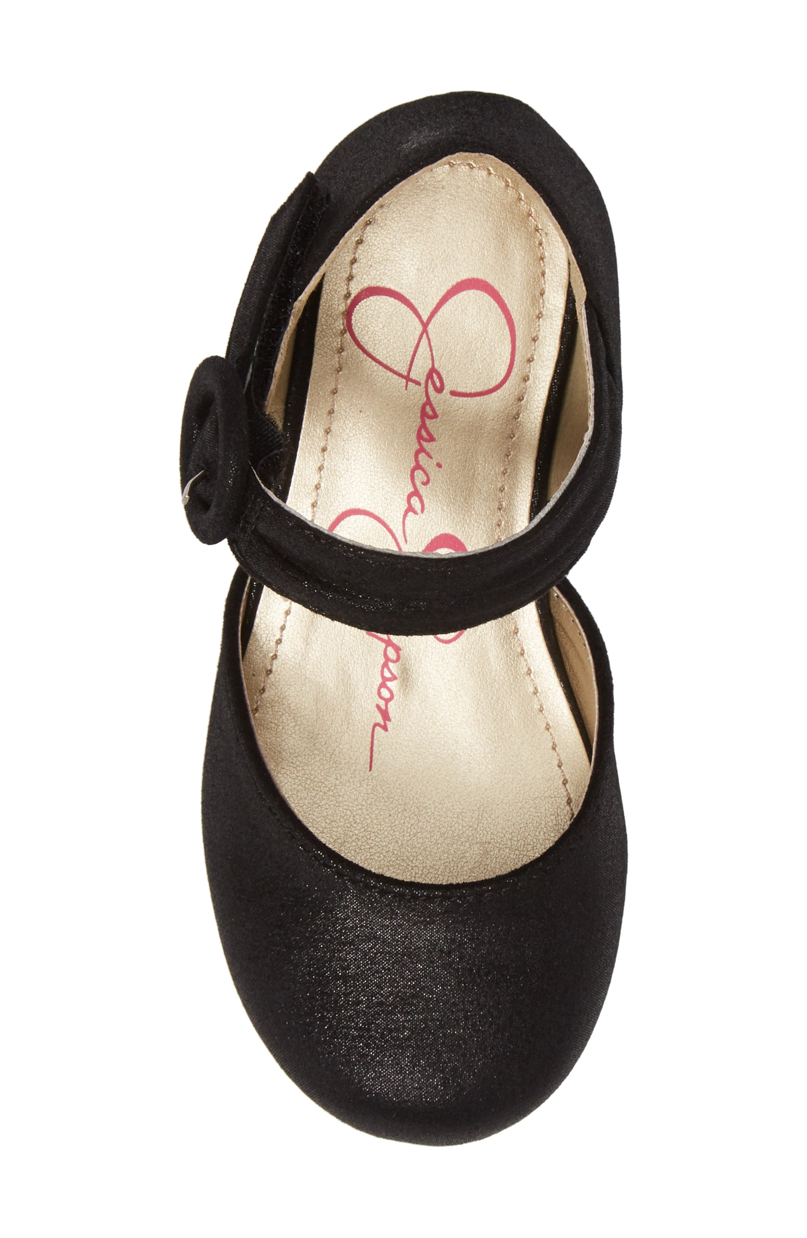 Tiana Shimmery Pump,                             Alternate thumbnail 5, color,                             Black Suede