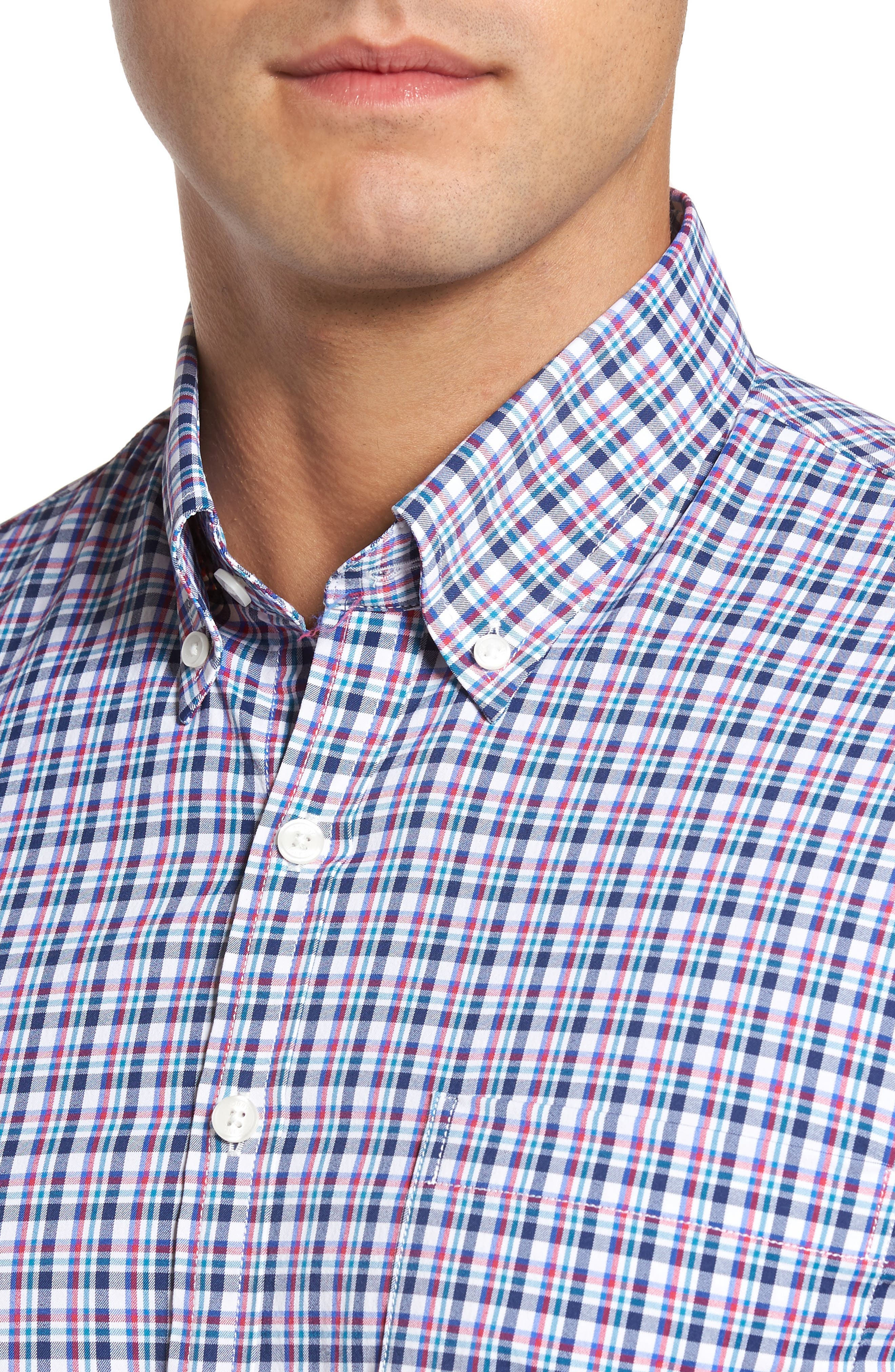 Alternate Image 4  - Bobby Jones Matthers Easy Care Plaid Sport Shirt