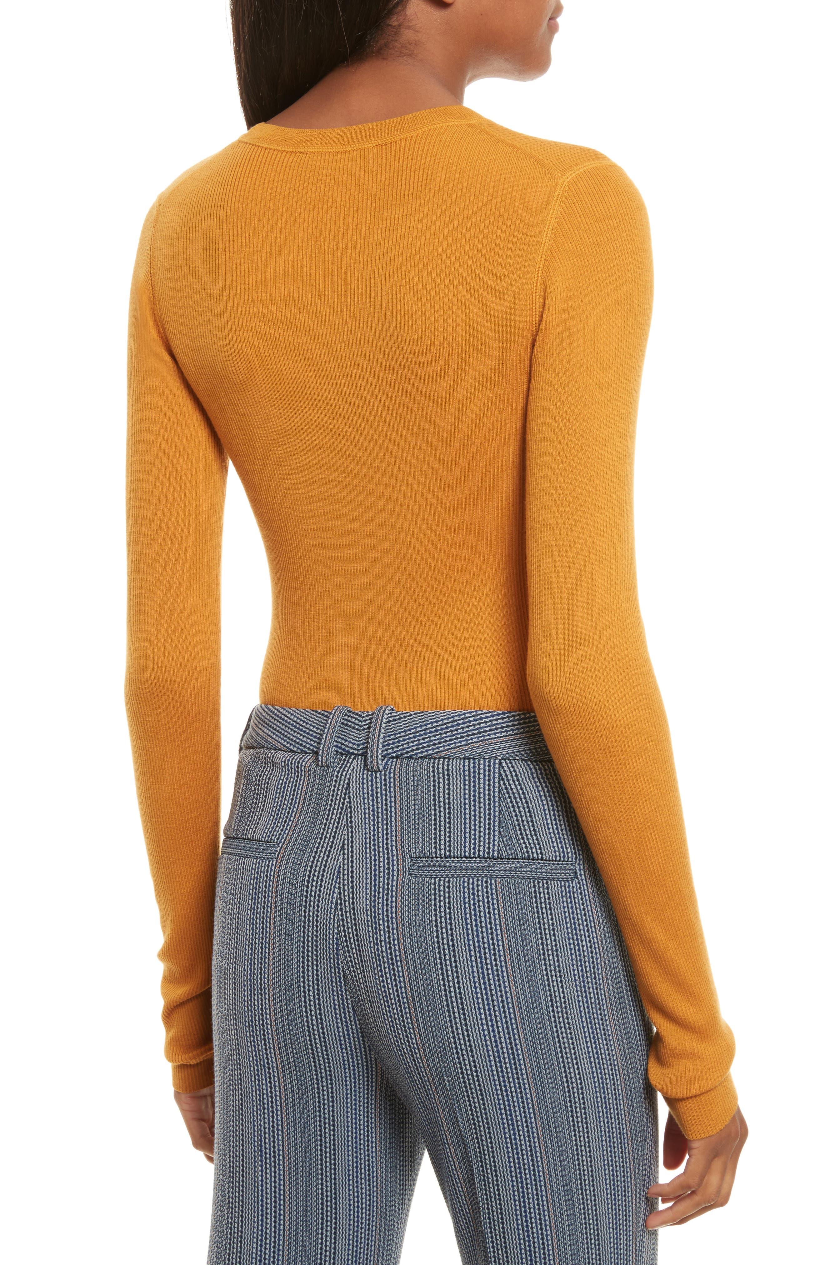 Mirzi Ribbed Sweater,                             Alternate thumbnail 2, color,                             Papaya
