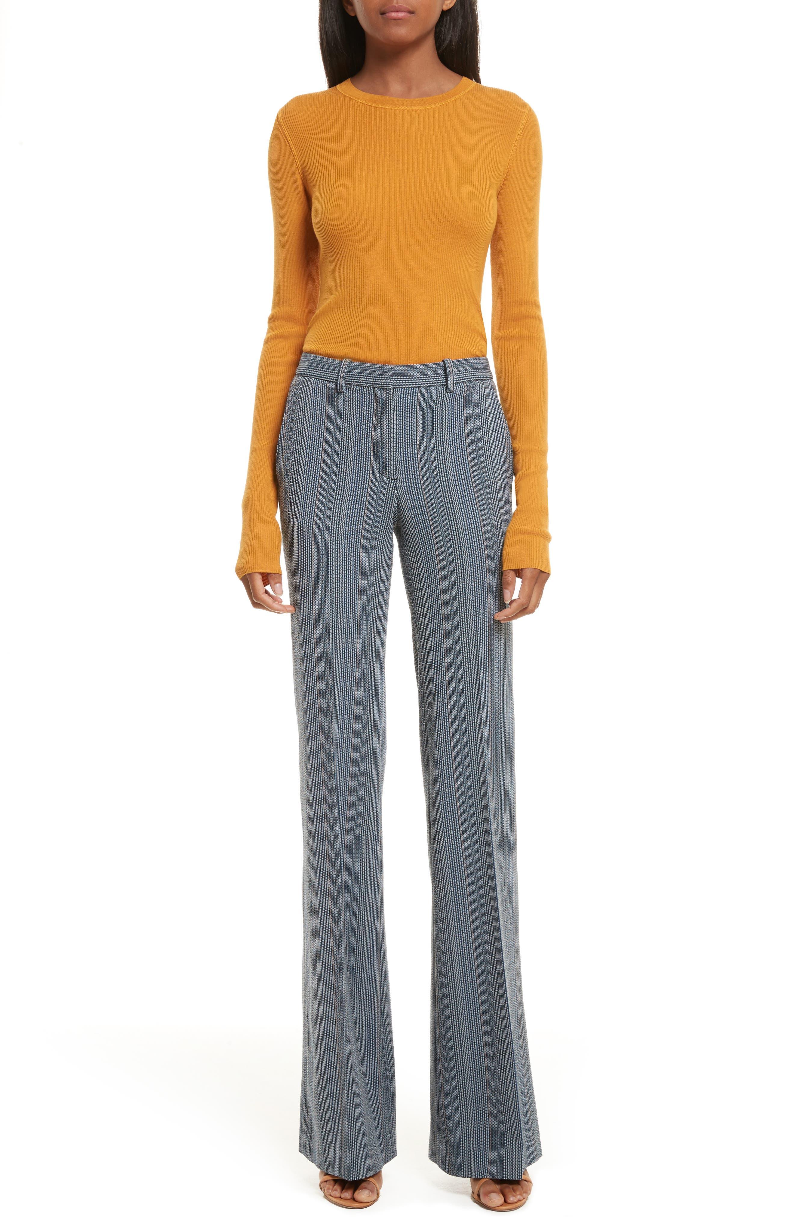 Mirzi Ribbed Sweater,                             Alternate thumbnail 6, color,                             Papaya