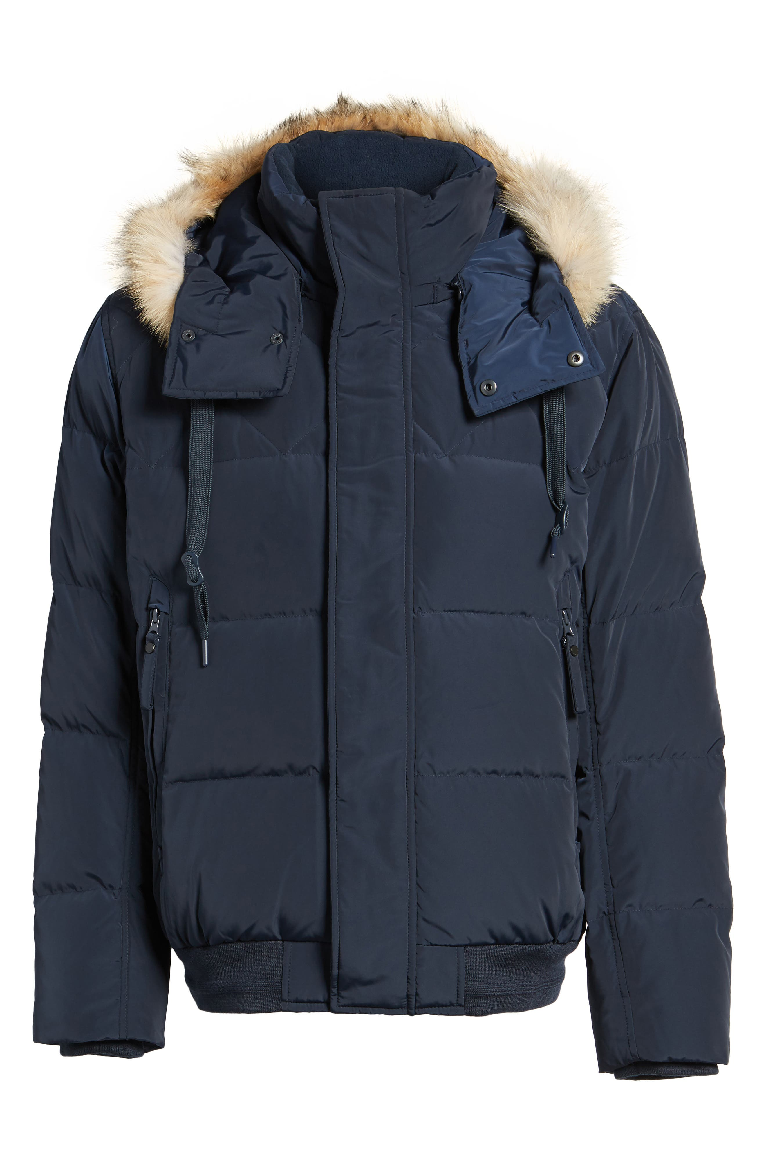 Alternate Image 5  - Marc New York Insulated Jacket with Genuine Coyote Fur