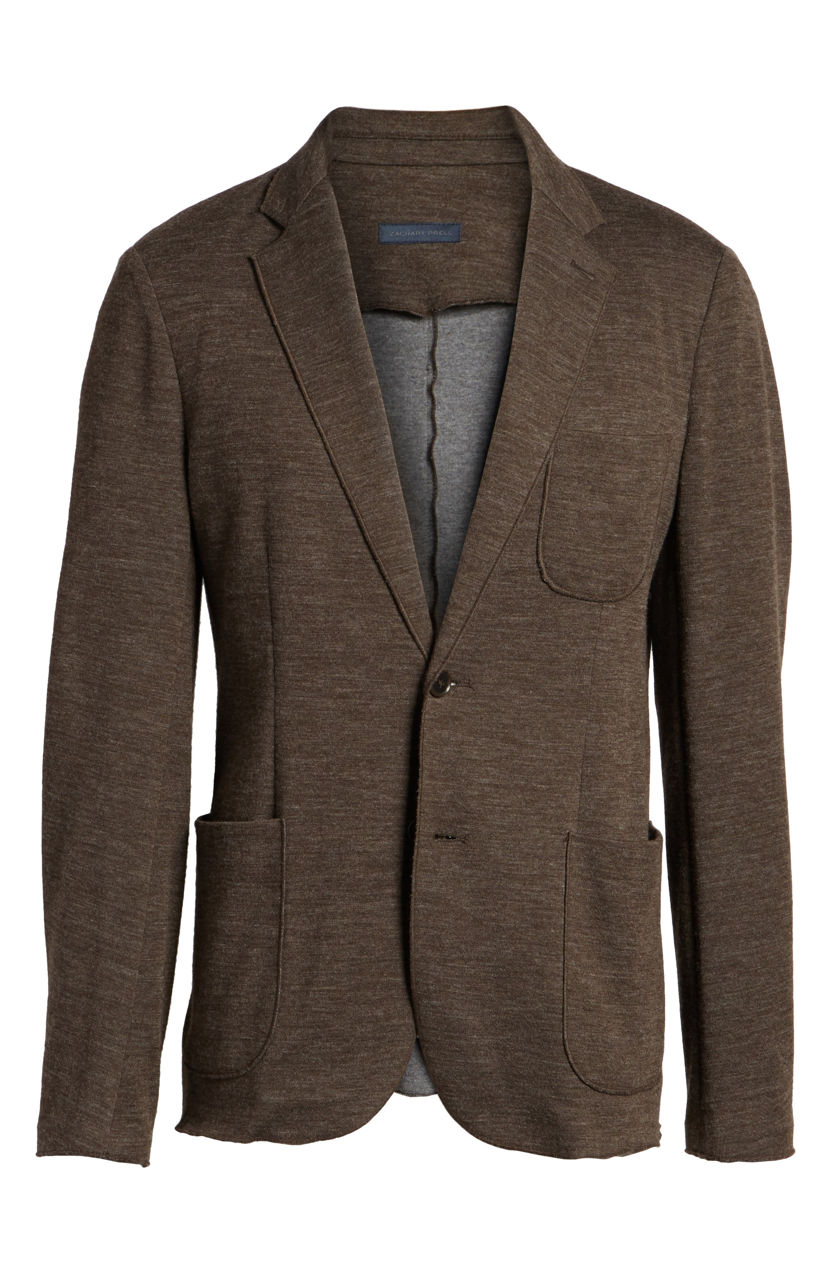 Knit Blazer,                             Alternate thumbnail 10, color,                             Brown