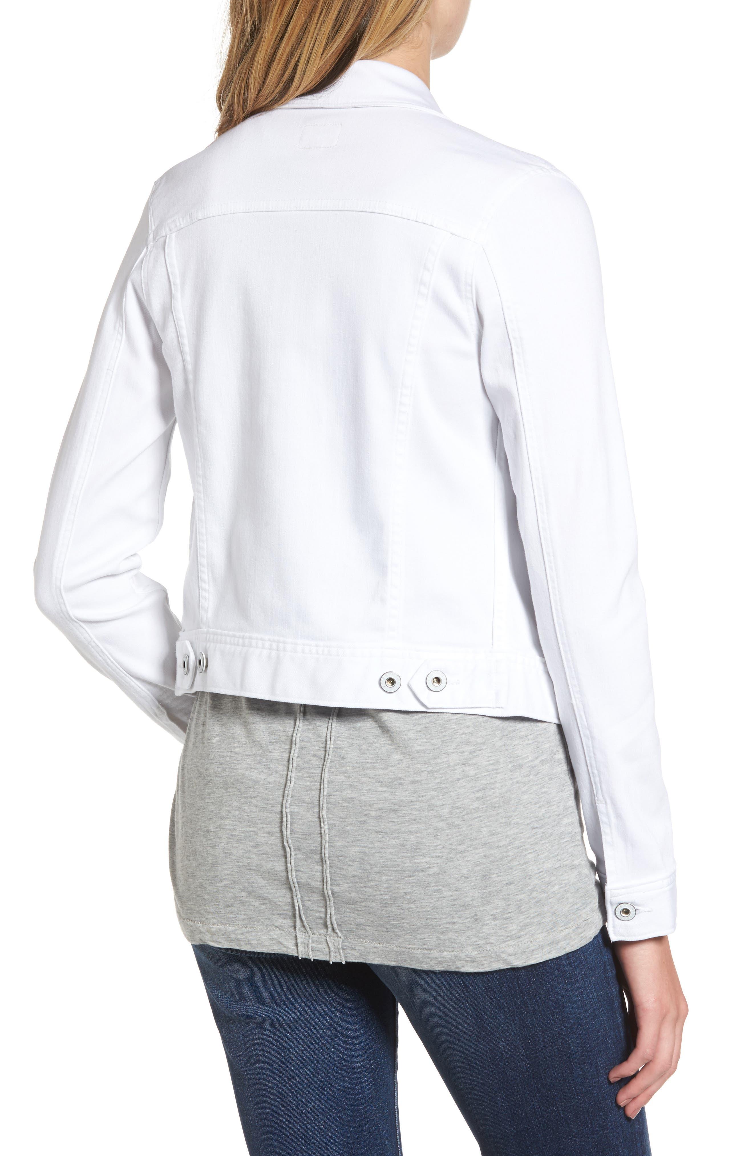 'Robyn' Denim Jacket,                             Alternate thumbnail 2, color,                             White