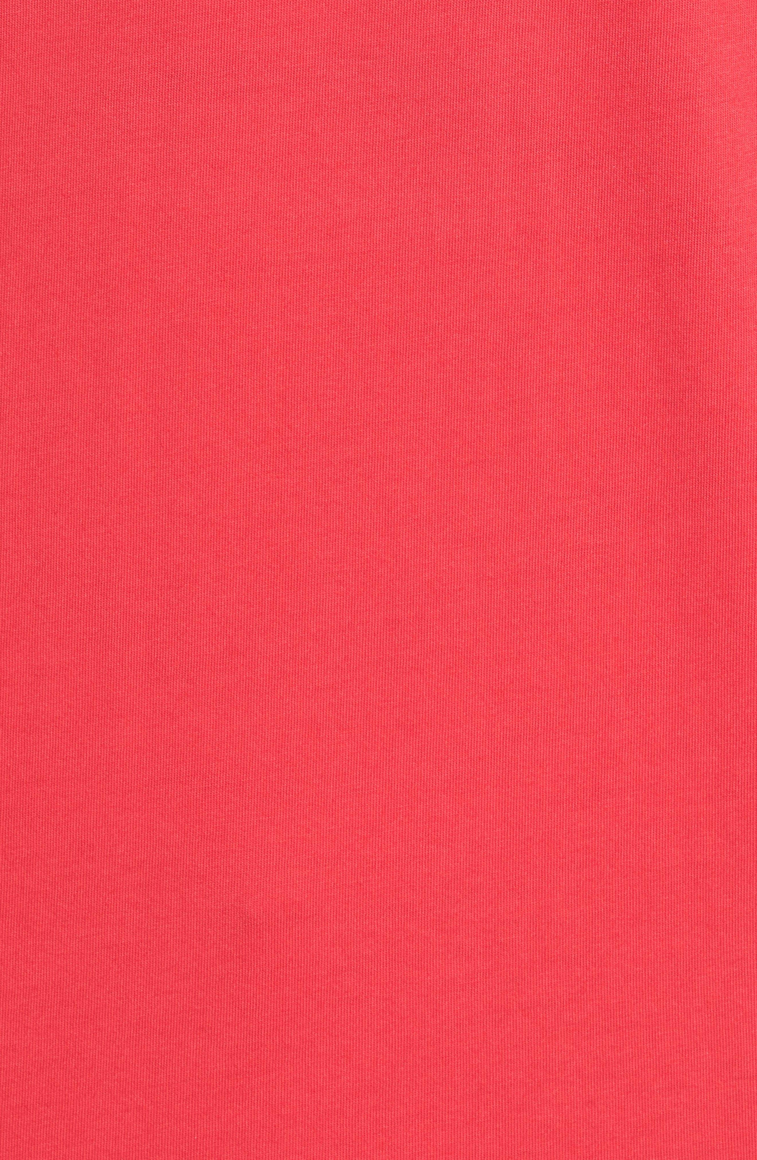 Coastal Burgees Long Sleeve Pocket T-Shirt,                             Alternate thumbnail 5, color,                             Barberry