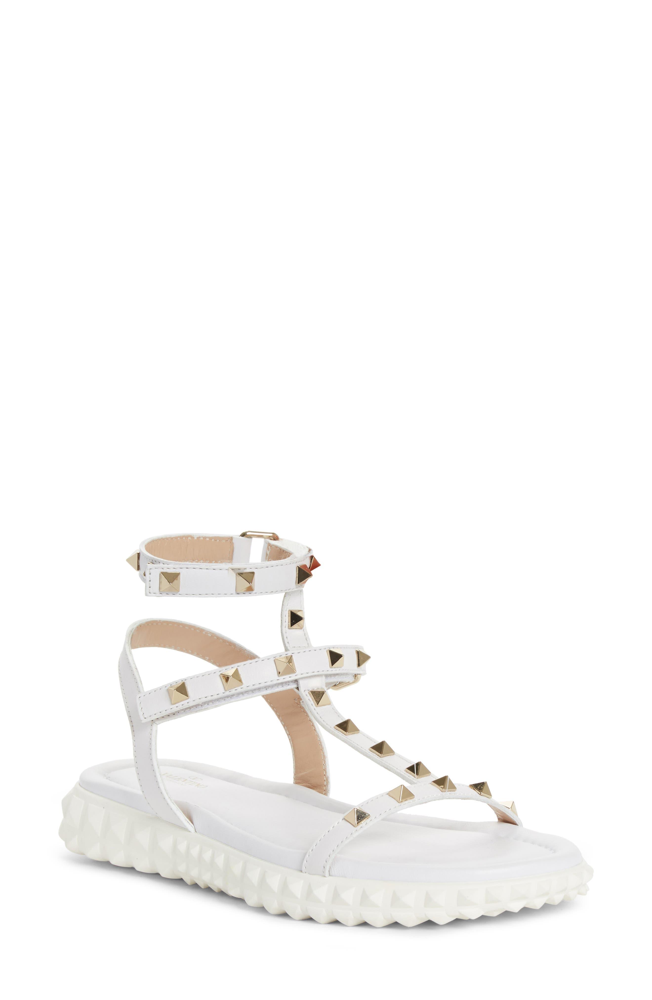 Free Rockstud Sandal,                         Main,                         color, White