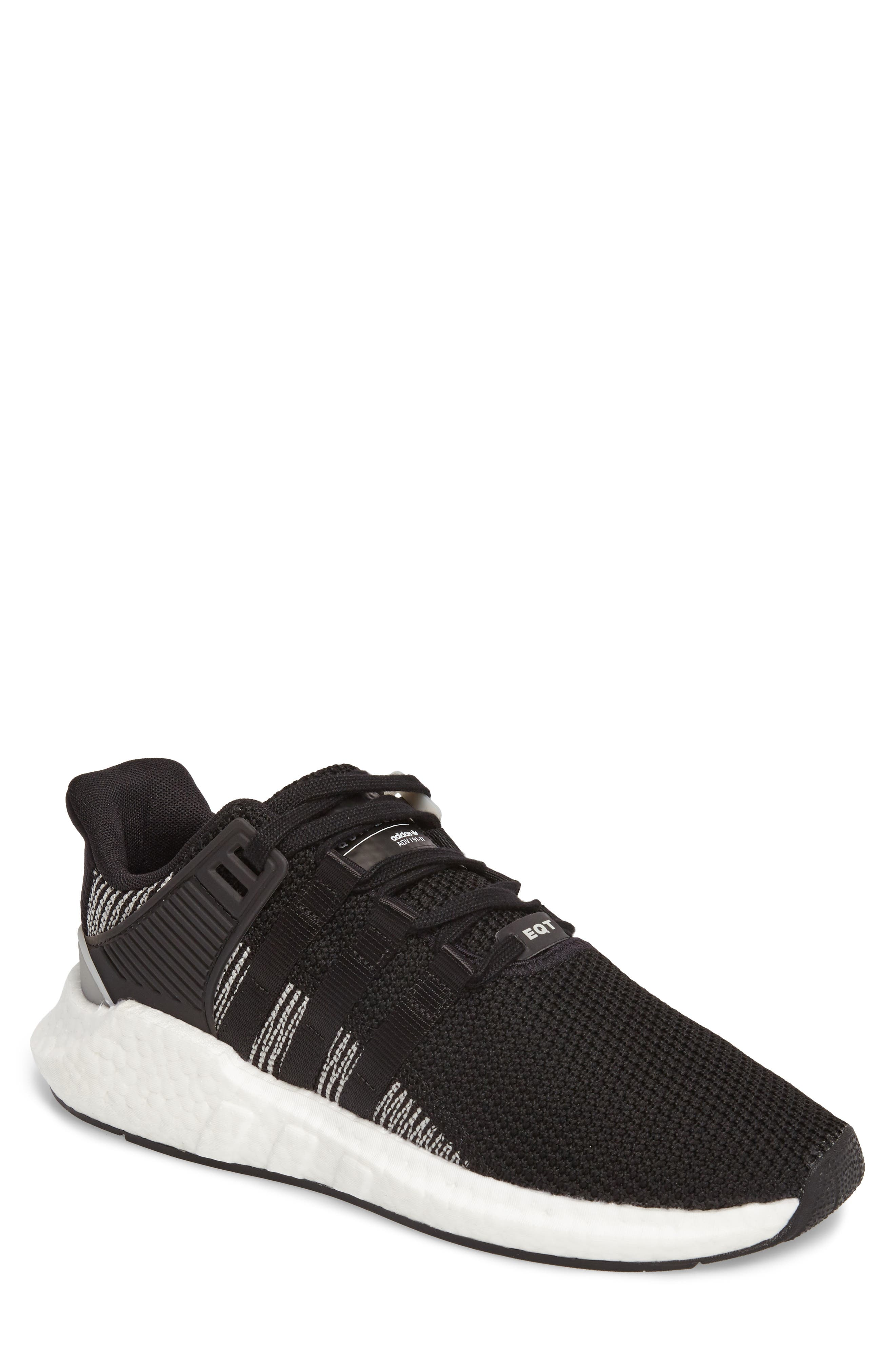 EQT Support 93/17 Sneaker,                         Main,                         color, Core Black/ Core Black/ White