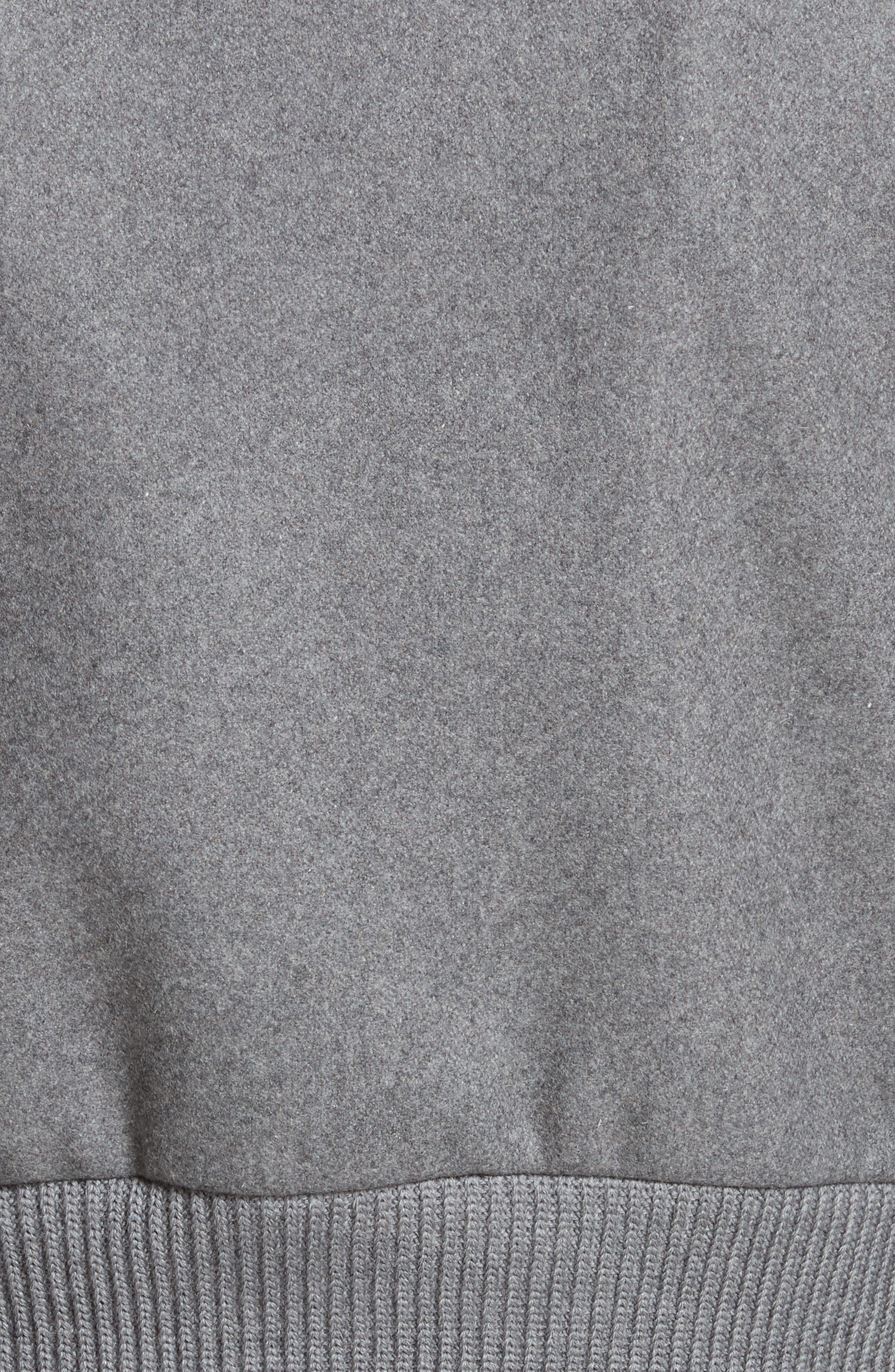 Mélange Wool Blend Jacket,                             Alternate thumbnail 5, color,                             Ardesia