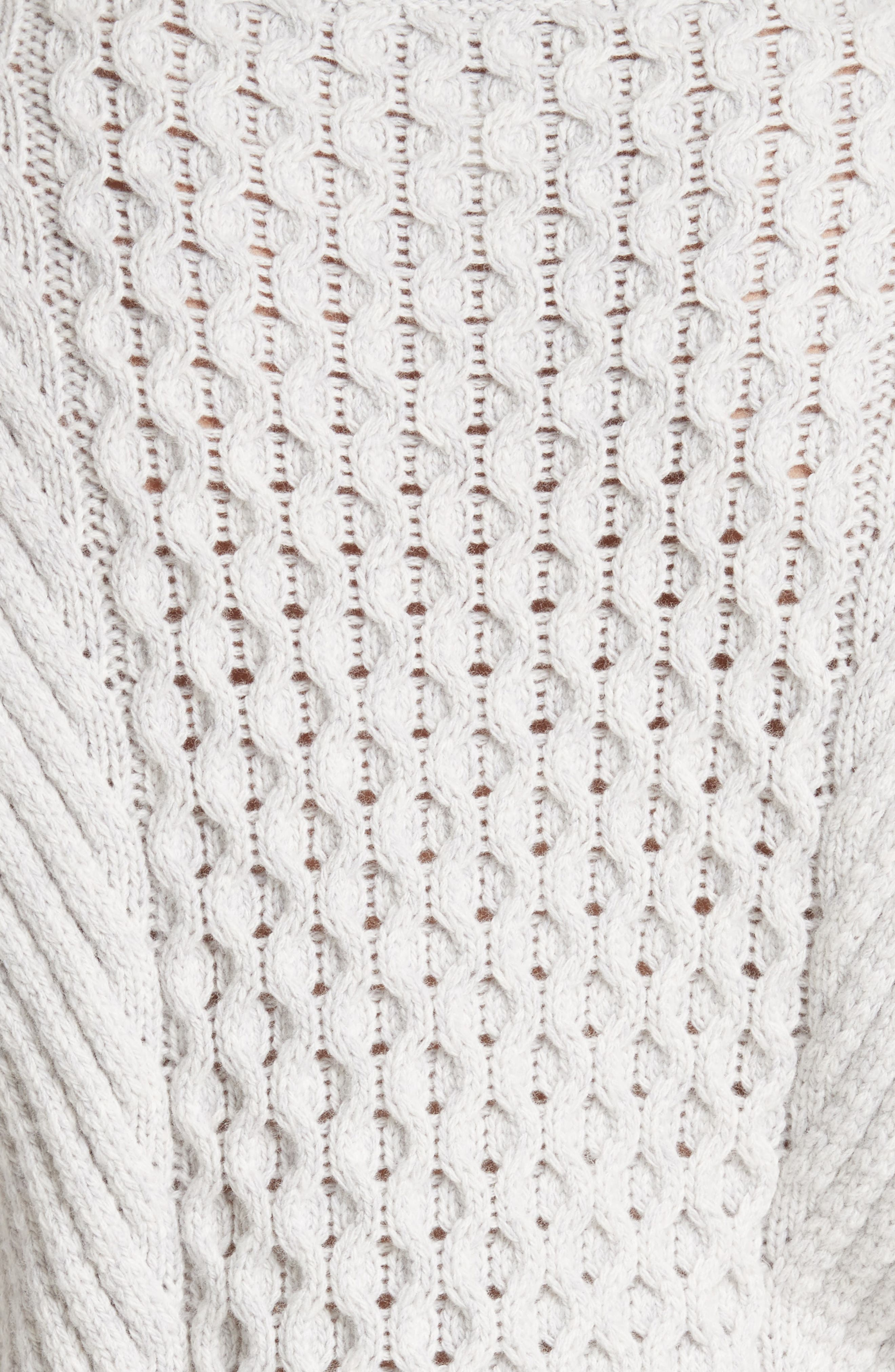 Honeycomb Stitch Sweater,                             Alternate thumbnail 5, color,                             Light Grey Heather