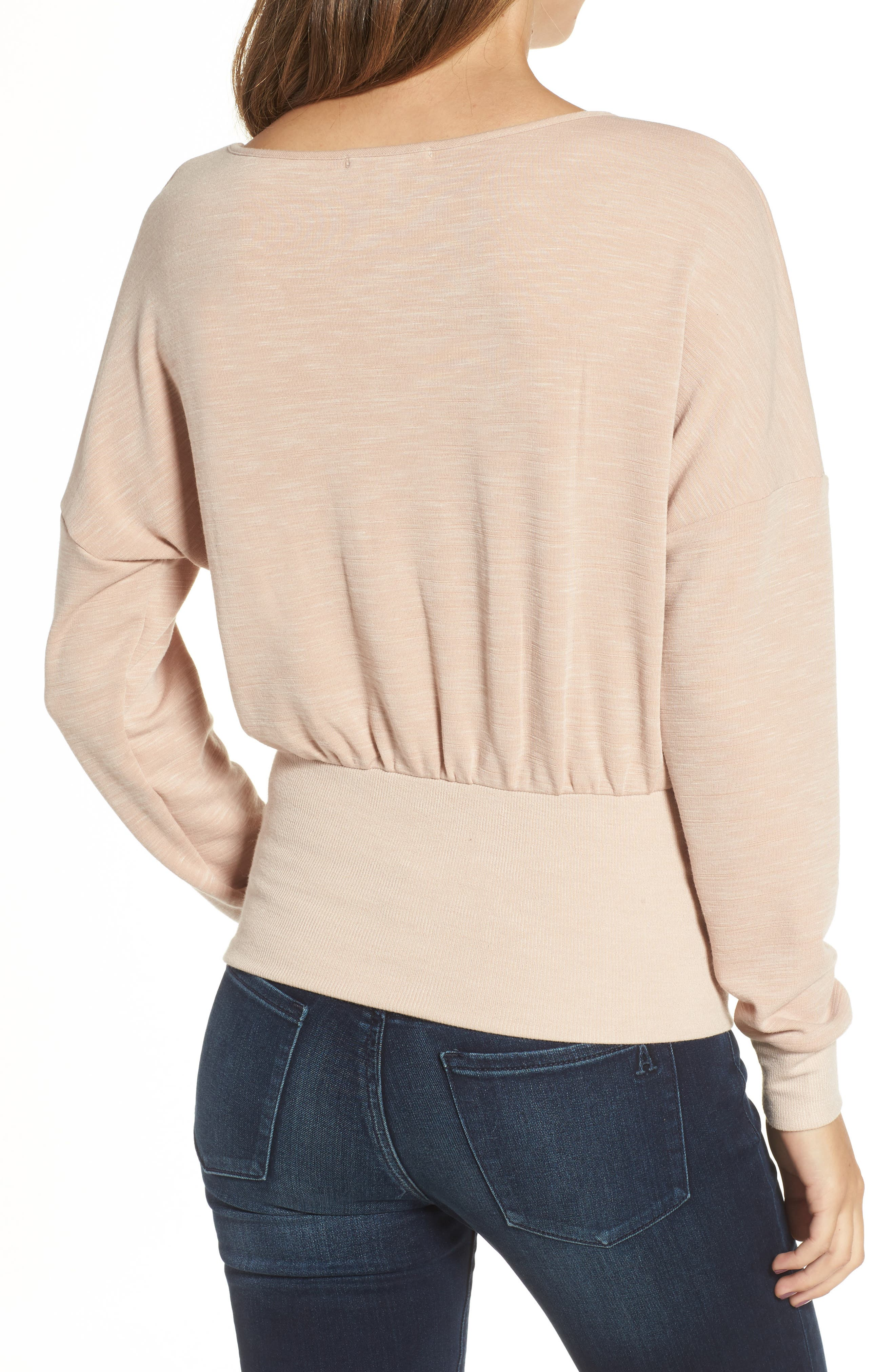Corset Sweatshirt,                             Alternate thumbnail 2, color,                             Blush