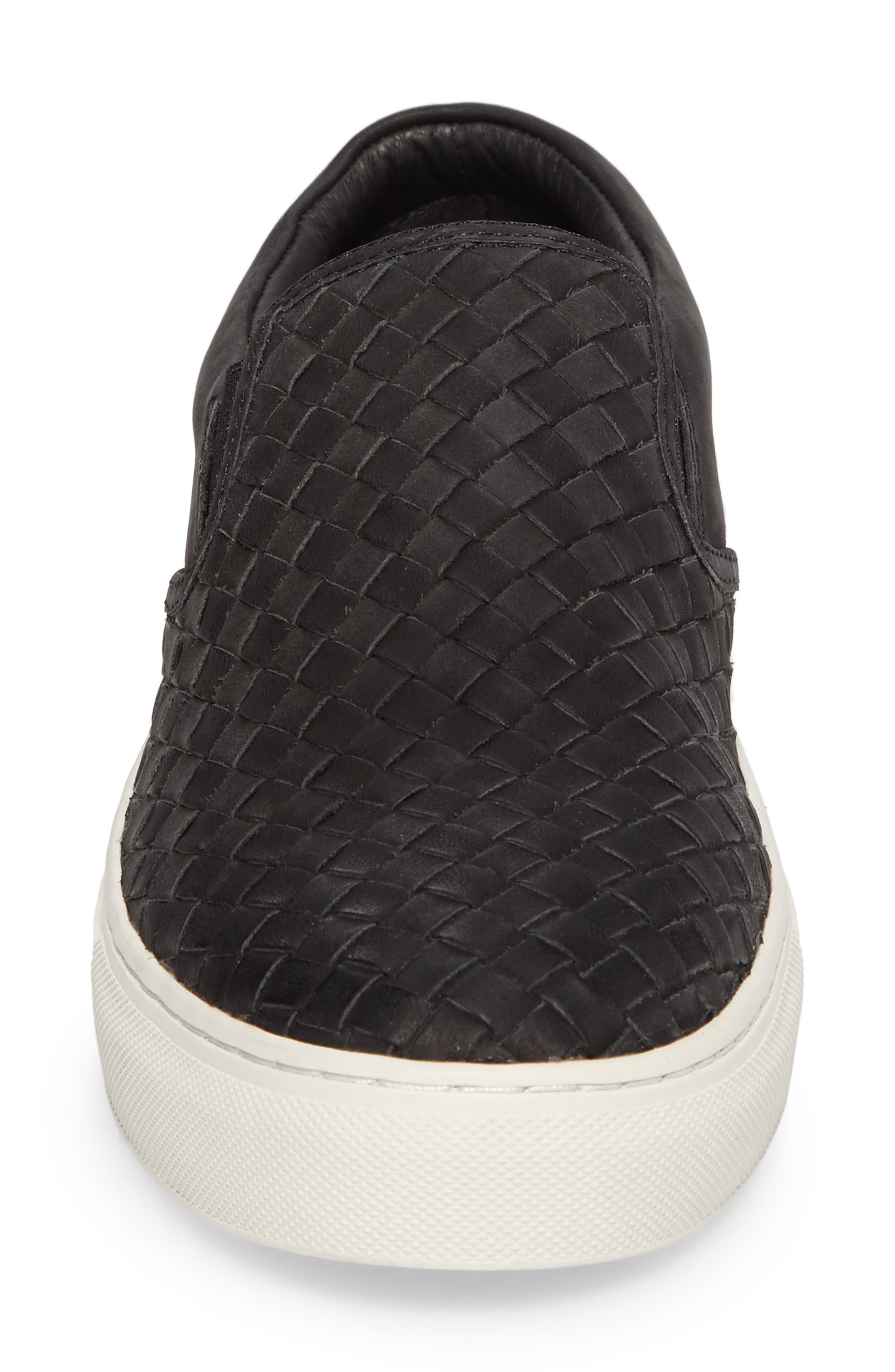 Dawson Slip-On,                             Alternate thumbnail 4, color,                             Black Leather