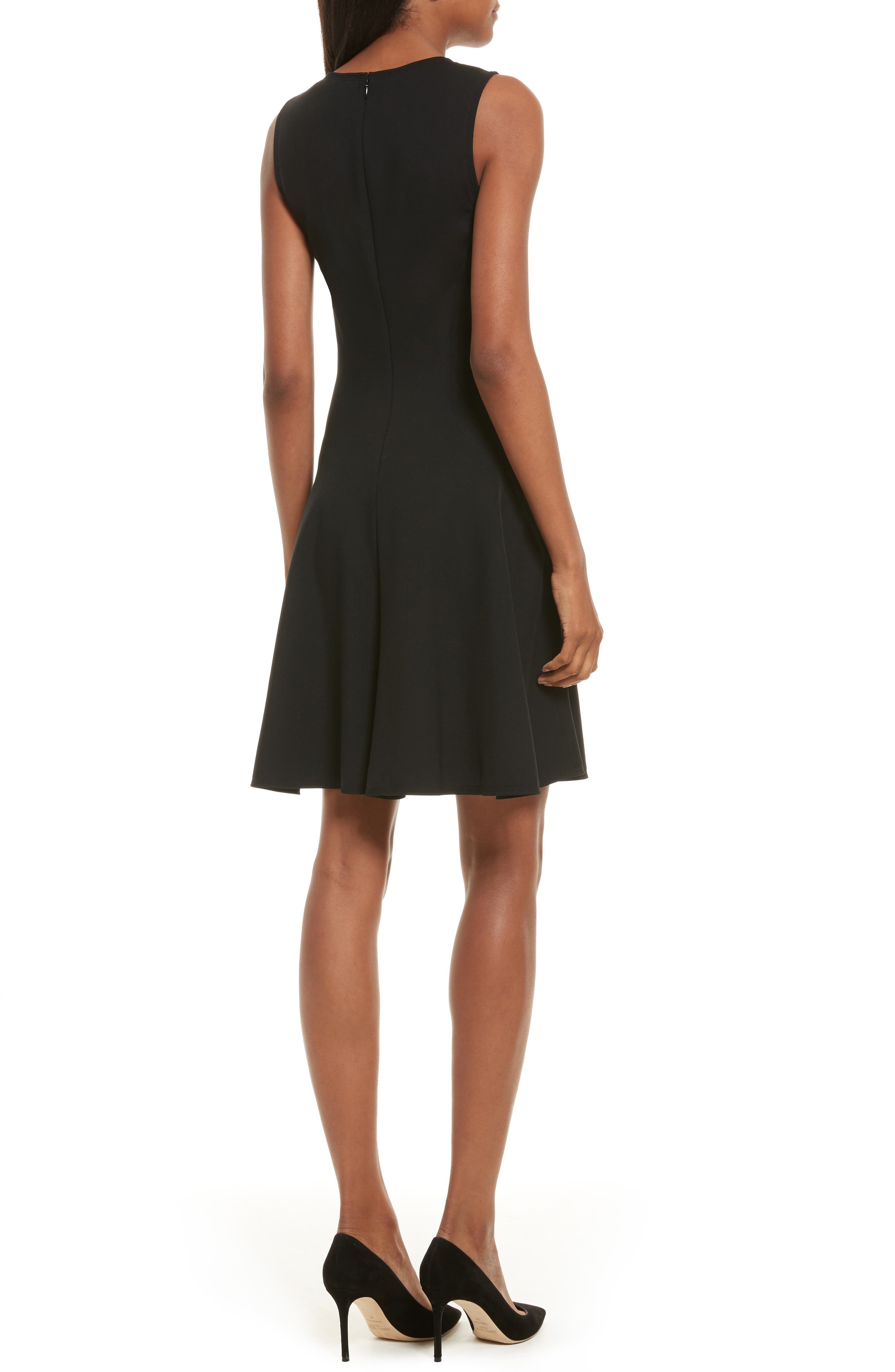 Harlock Fit & Flare Dress,                             Alternate thumbnail 2, color,                             Black
