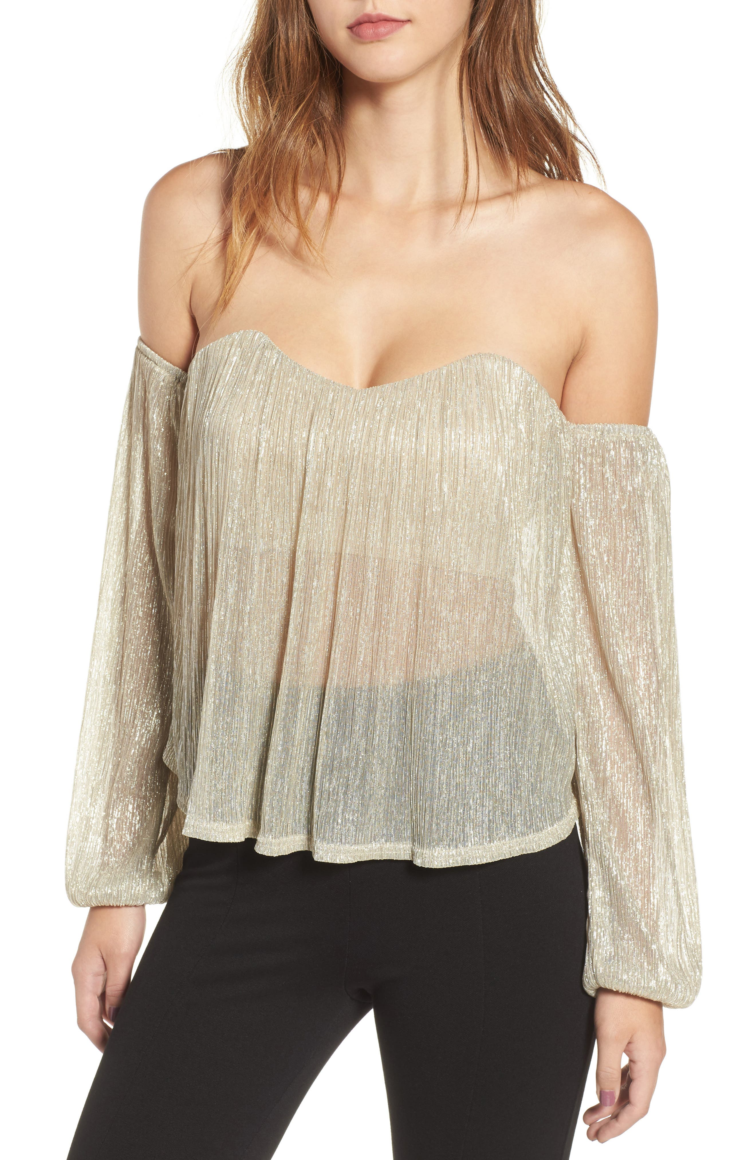 Main Image - 4SI3NNA Off the Shoulder Top