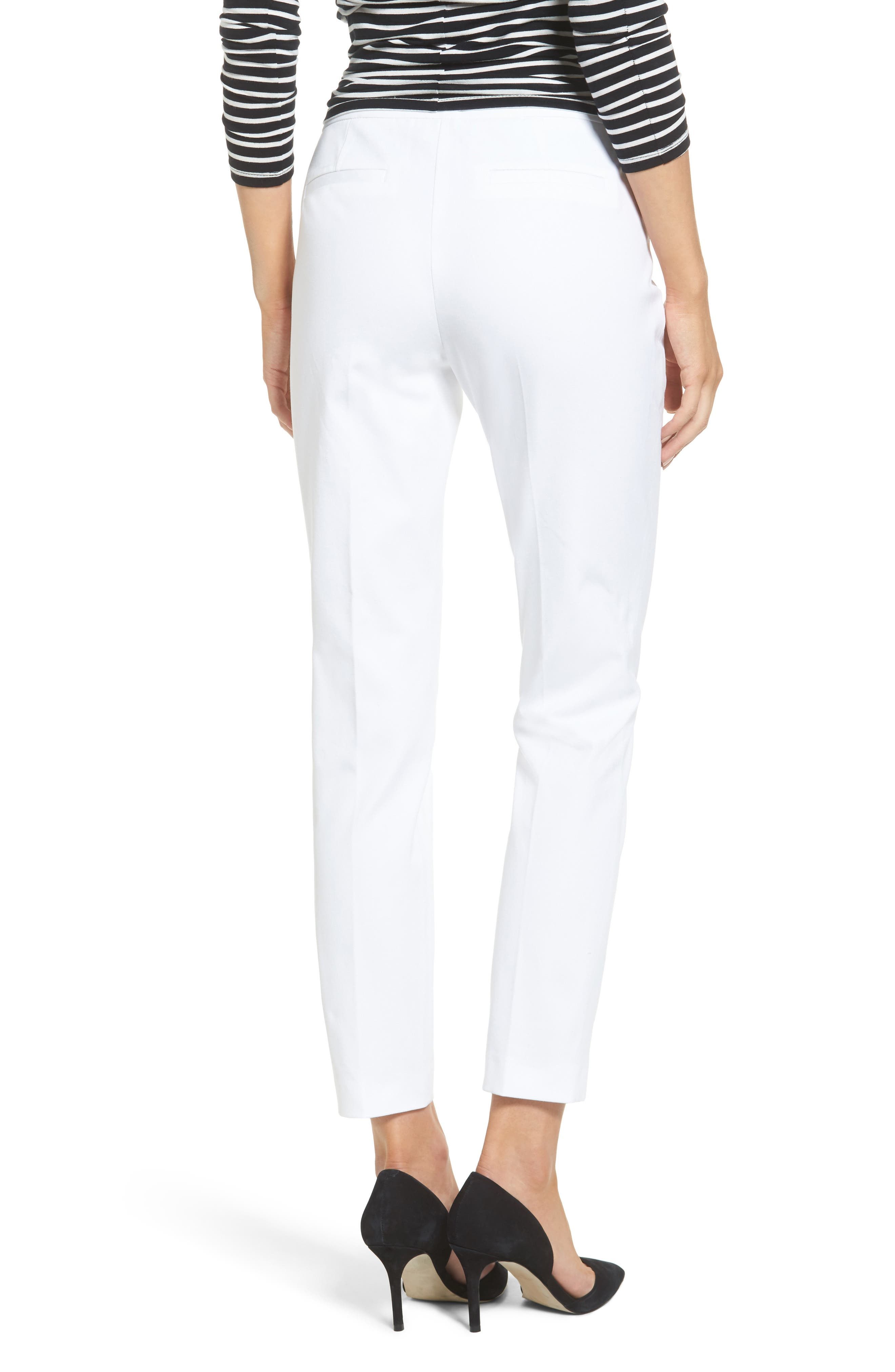 Ankle Pants,                             Alternate thumbnail 2, color,                             White