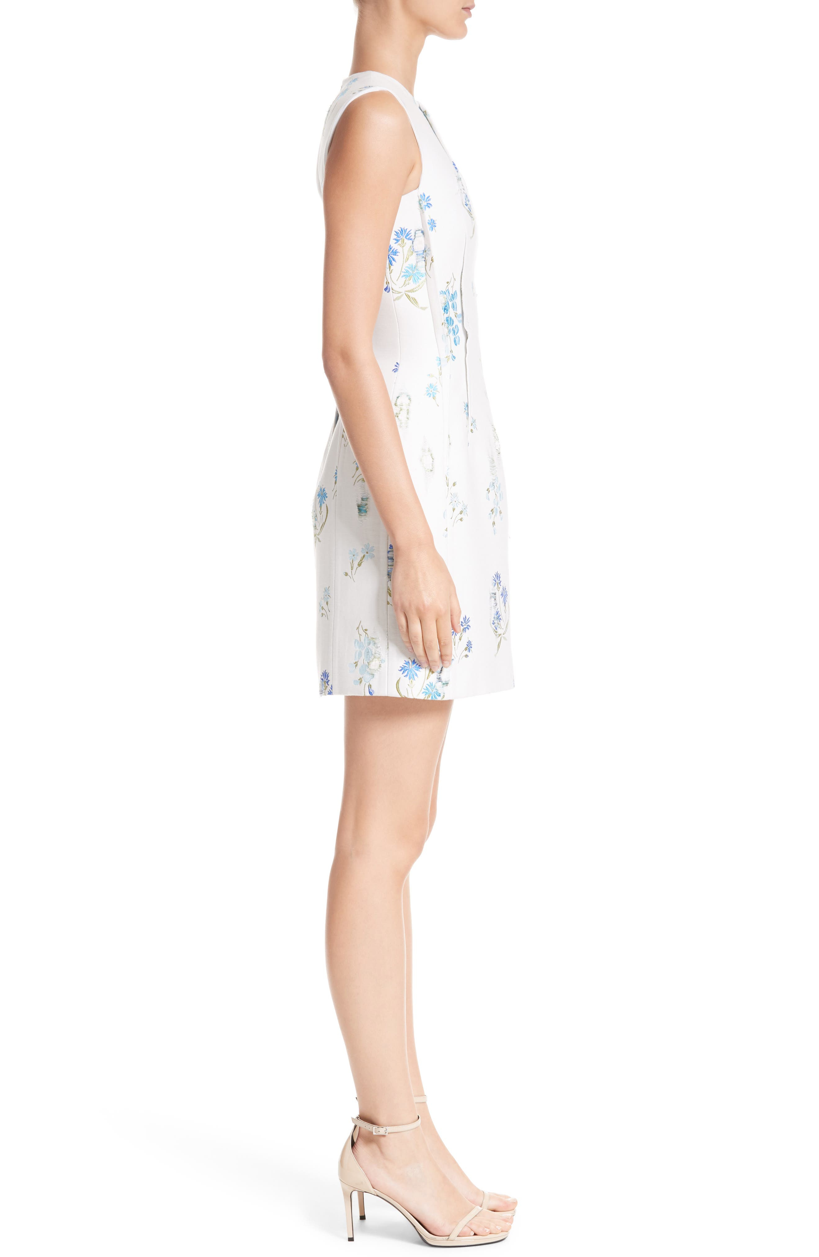 Alternate Image 3  - Versace Collection Distressed Floral Jacquard Fit & Flare Dress