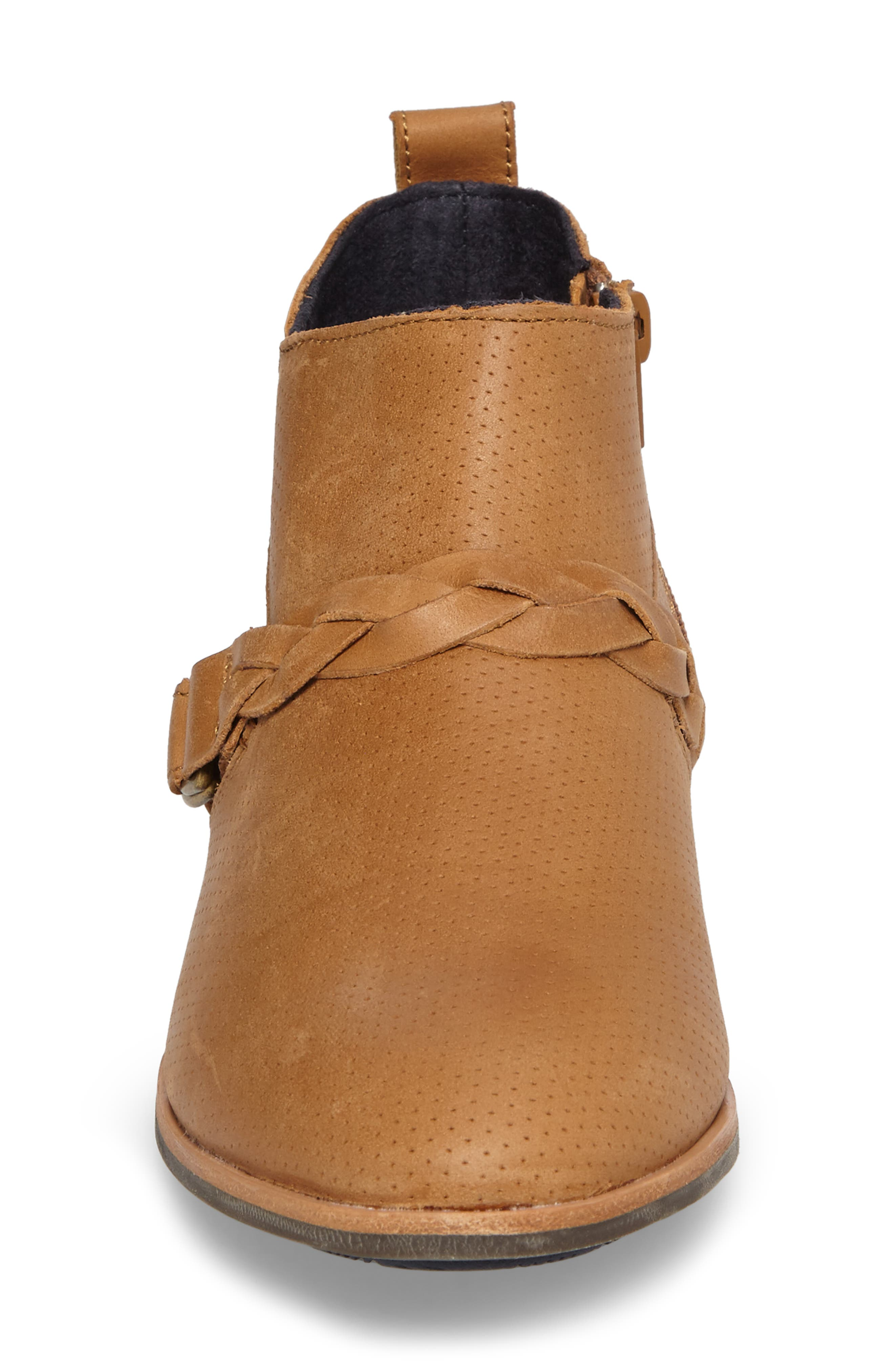 Ho'olu Perforated Bootie,                             Alternate thumbnail 4, color,                             Pecan/ Pecan Leather