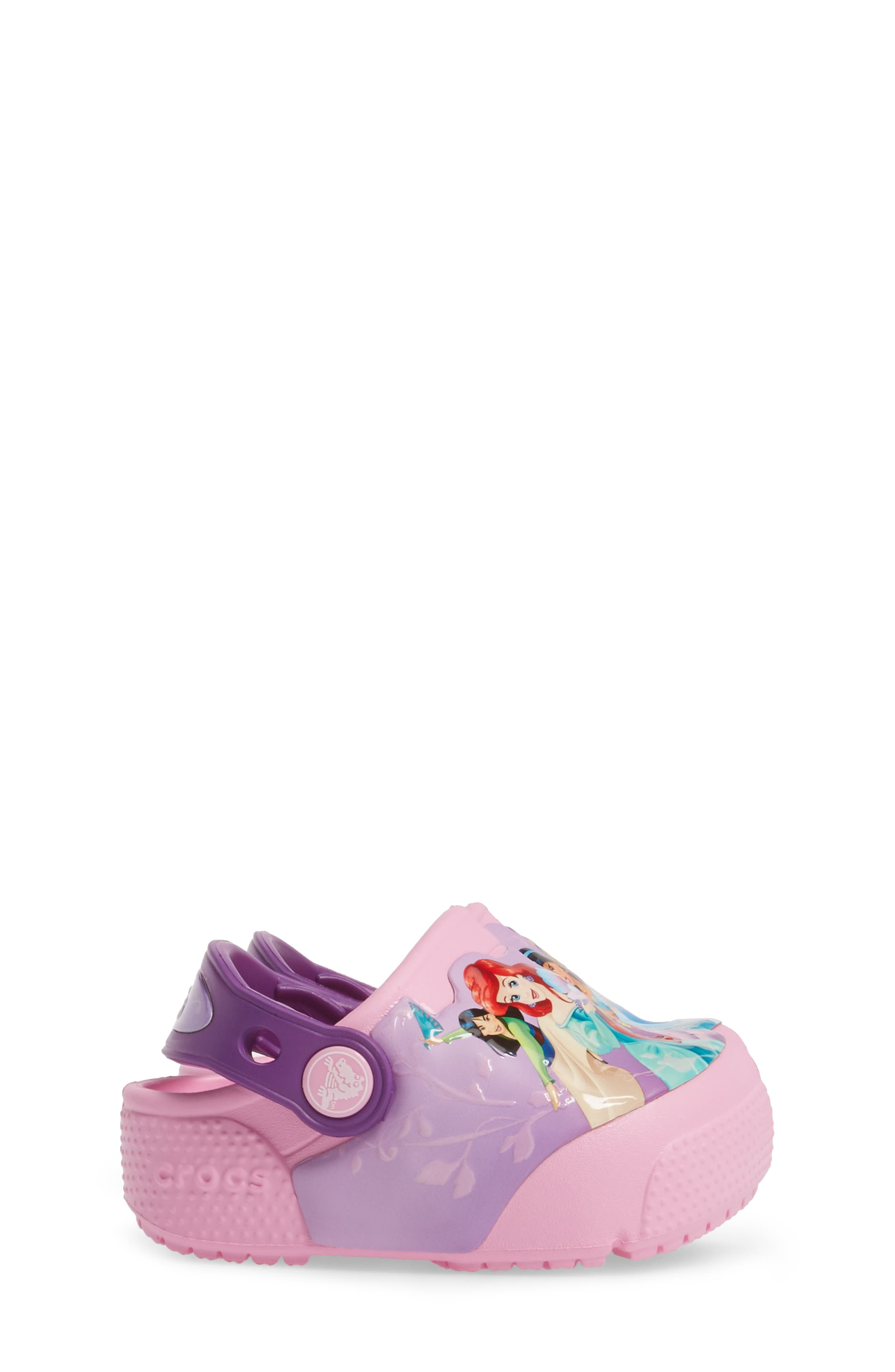 Fun ab Lights Disney<sup>®</sup> Princesses Light-Up Slip-On,                             Alternate thumbnail 3, color,                             Amethyst