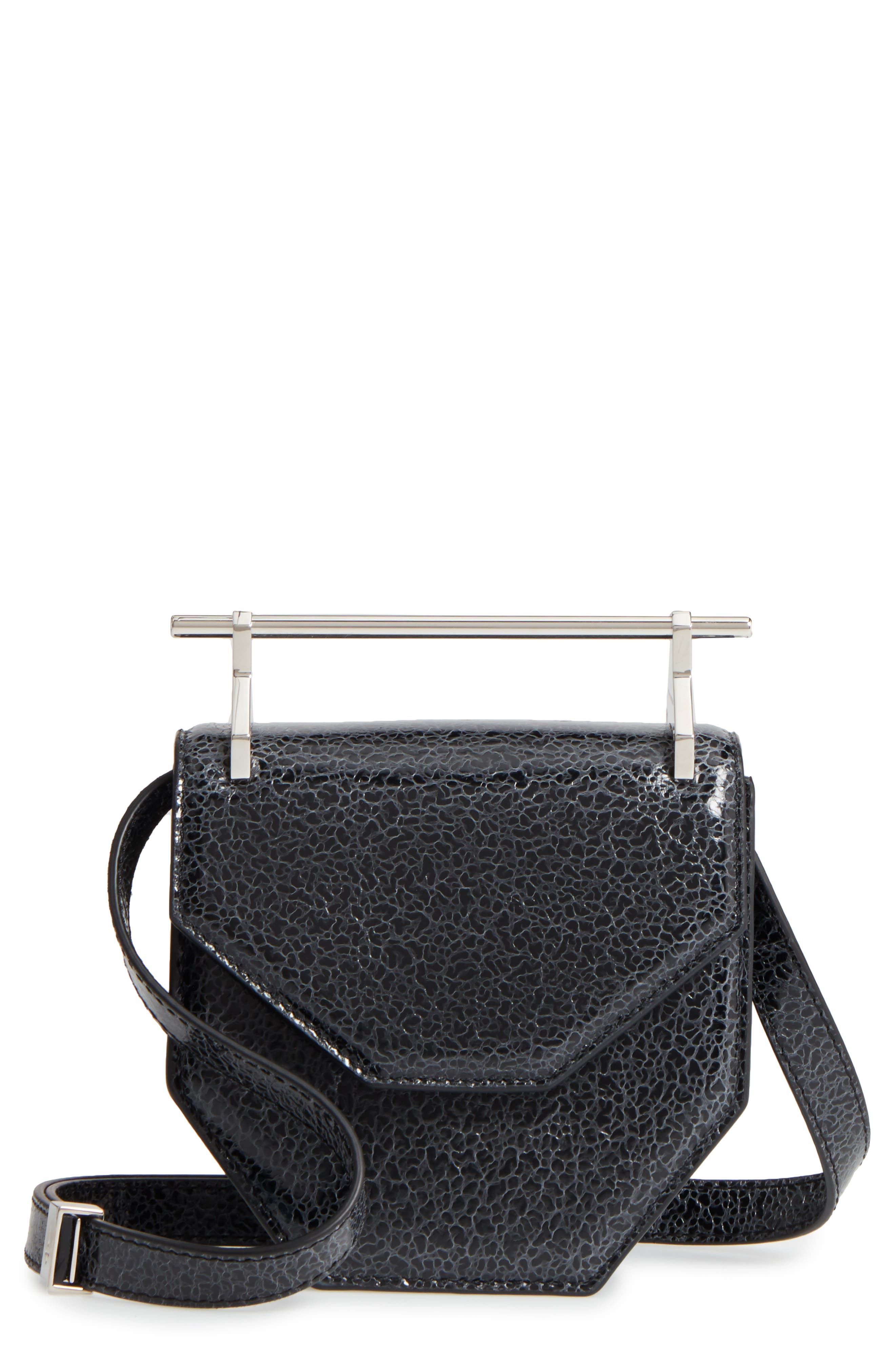 M2Malletier Mini Amor Fati Single Calfskin Leather Shoulder Bag