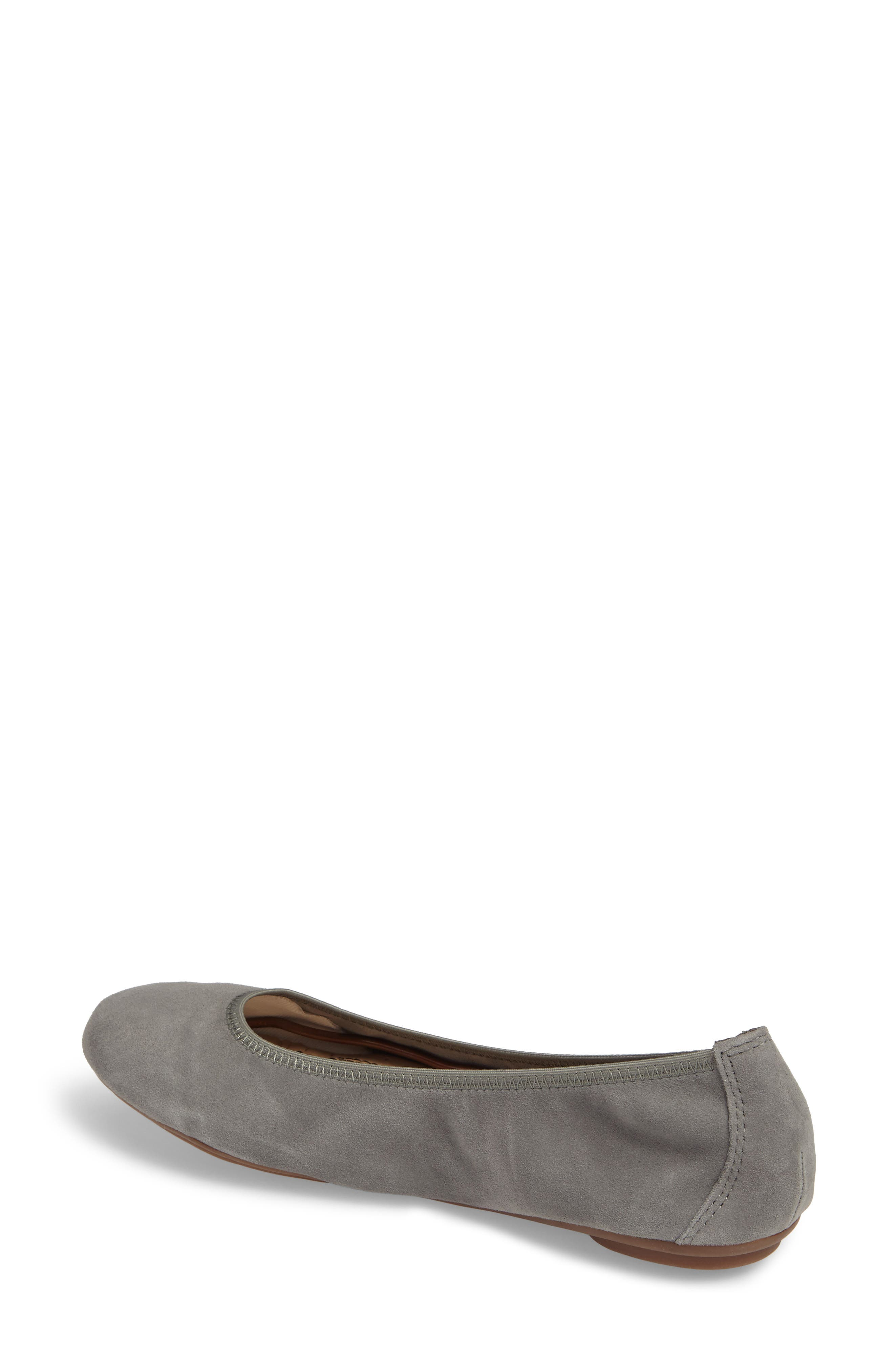 'Chaste' Ballet Flat,                             Alternate thumbnail 2, color,                             Dusty Green Suede