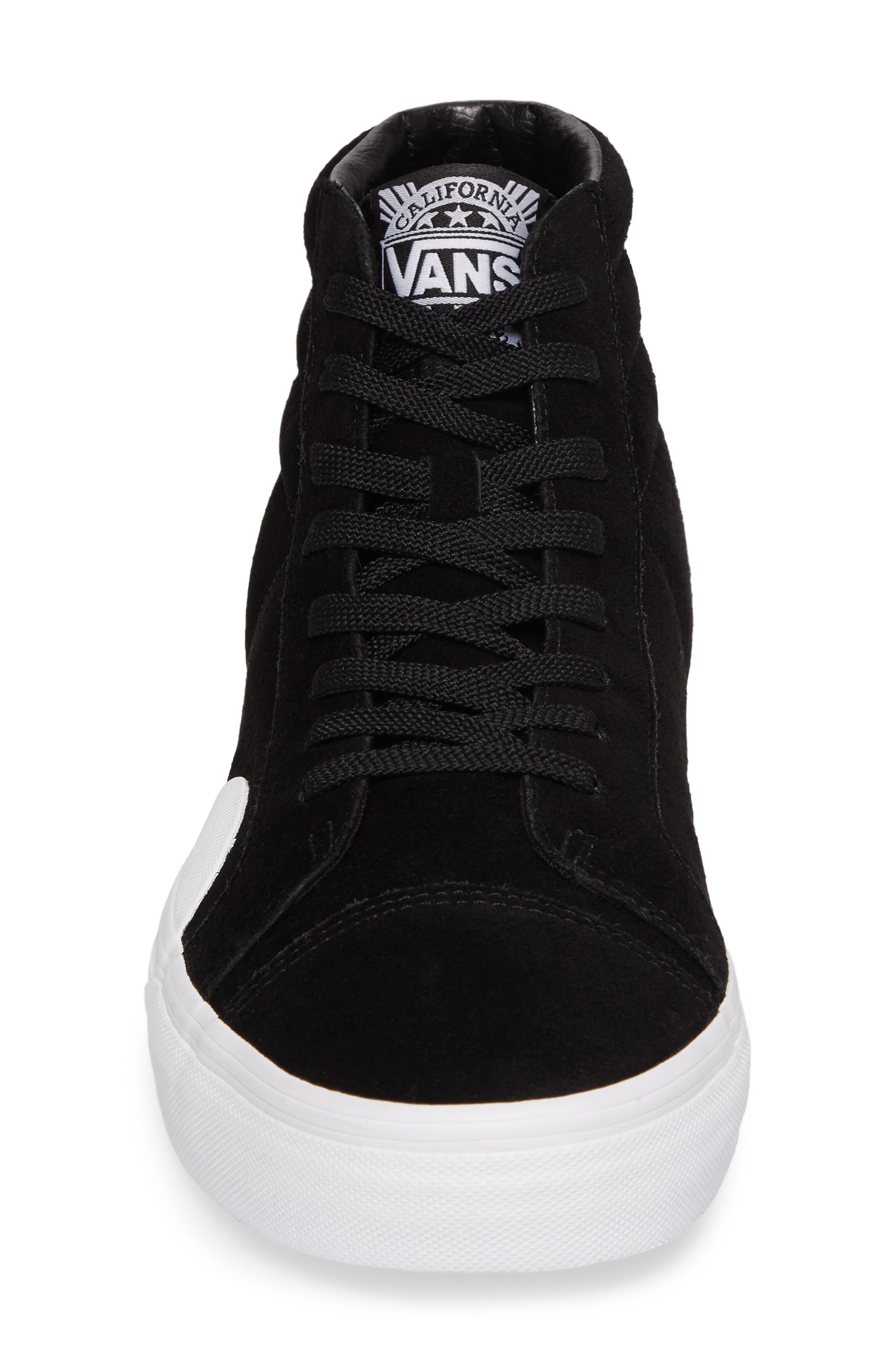 Style 238 Sneaker,                             Alternate thumbnail 4, color,                             Black/ White Suede