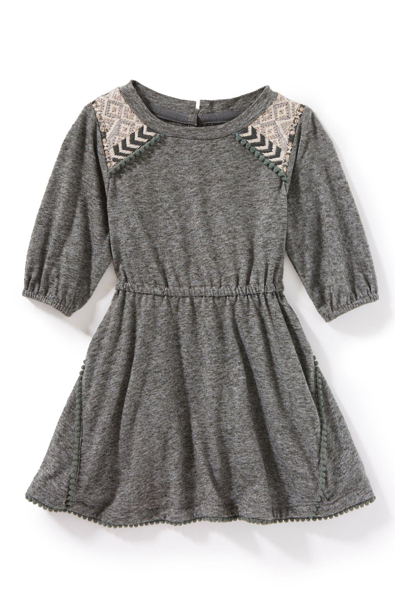 Lauren Jersey Dress,                         Main,                         color, Charcoal