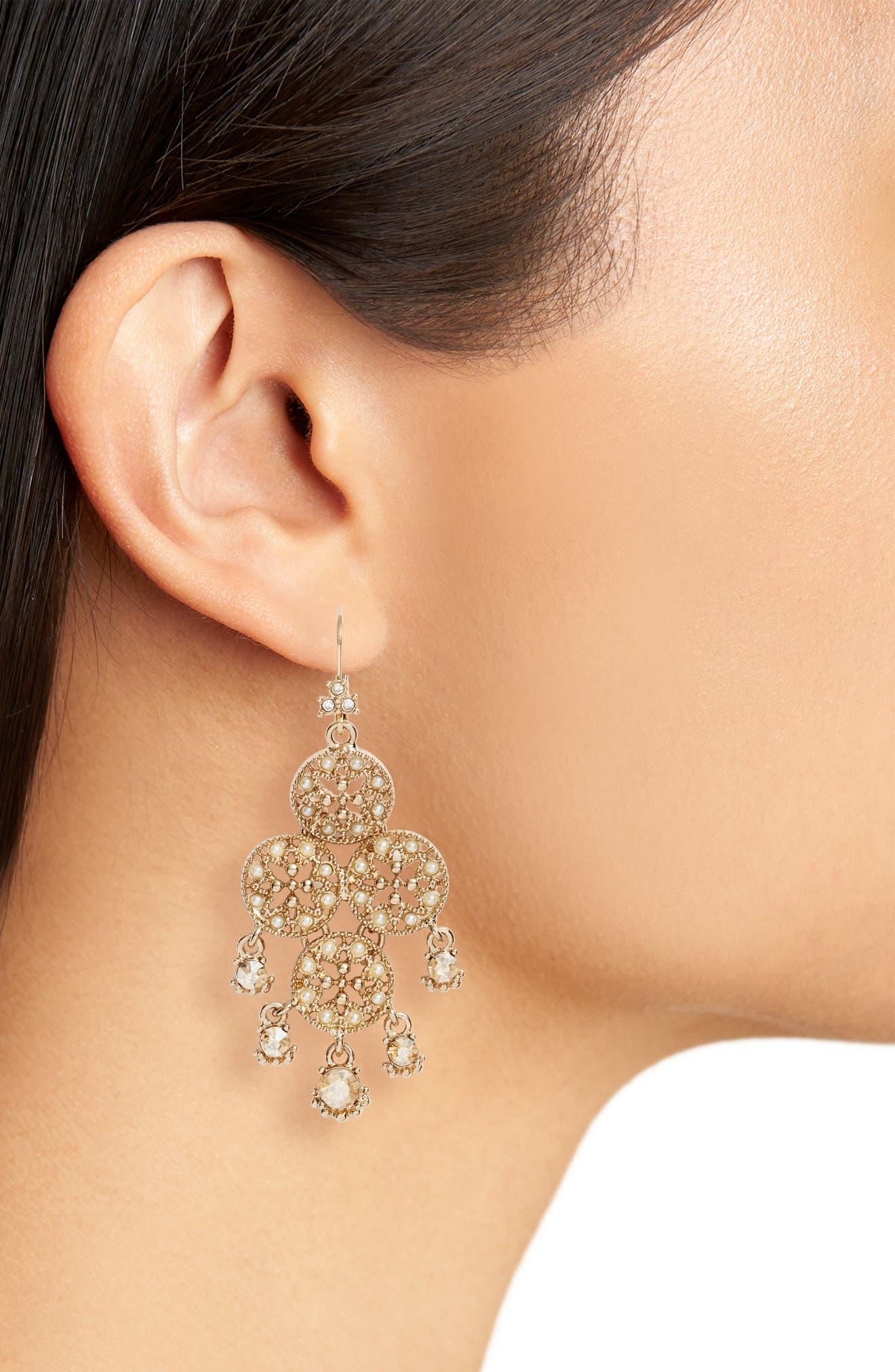 Alternate Image 2  - Marchesa Chandelier Drop Earrings