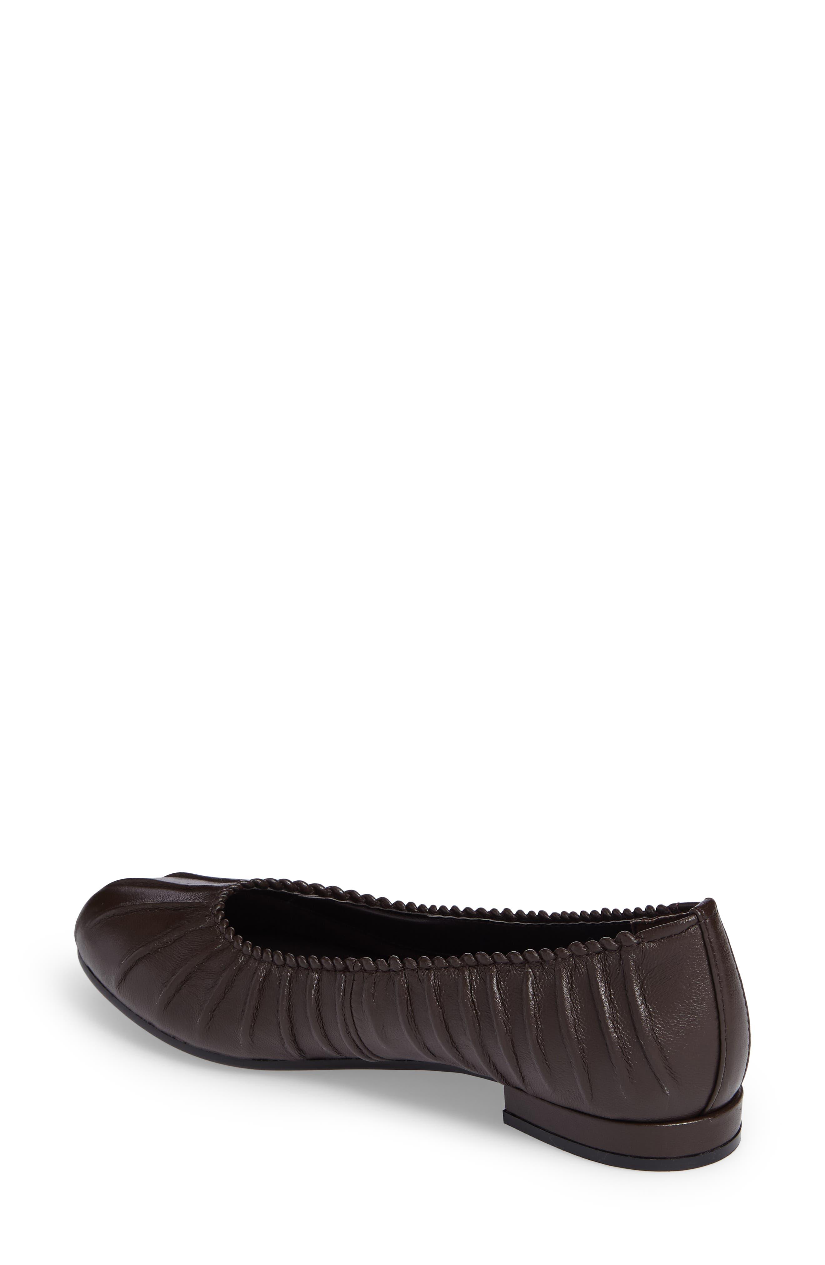 Santo Flat,                             Alternate thumbnail 2, color,                             Brown Leather