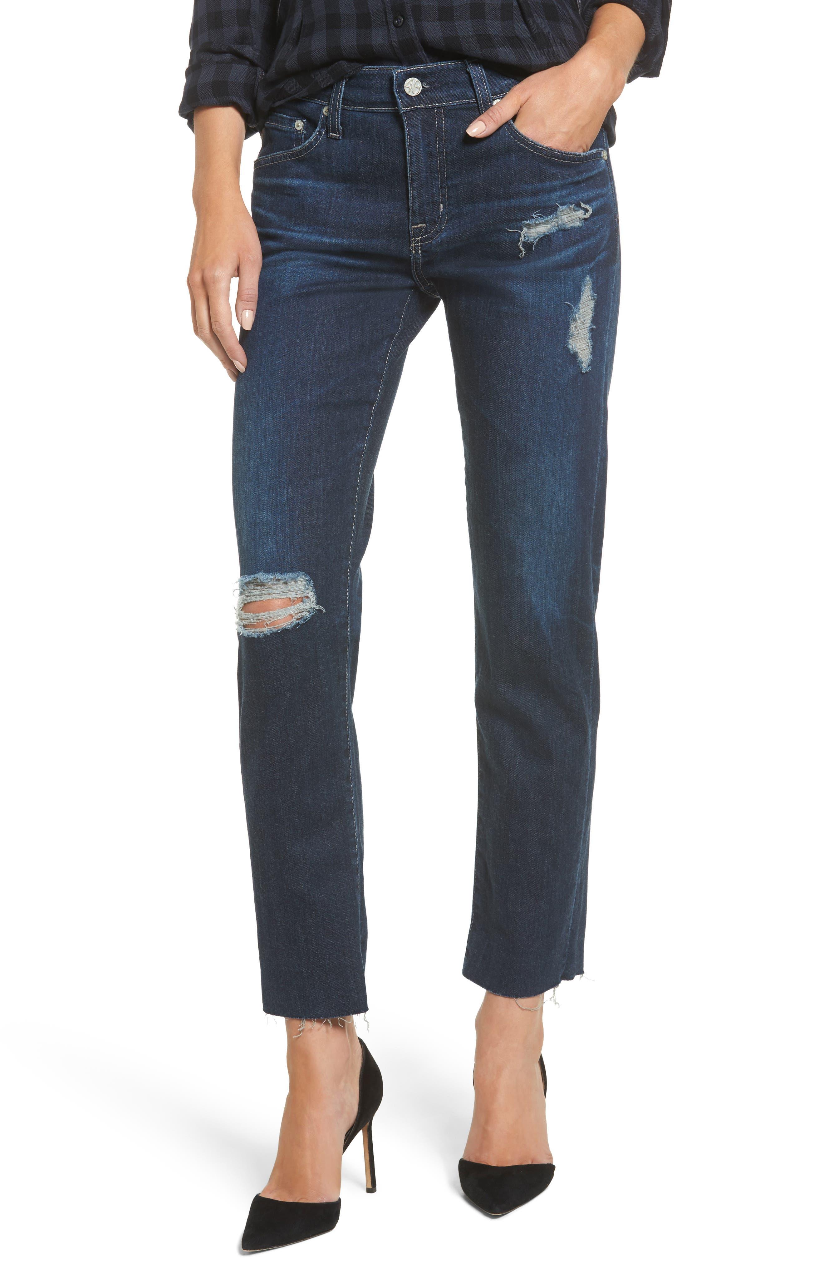 The Ex Boyfriend Crop Jeans,                         Main,                         color, 7 Years Dark Tide
