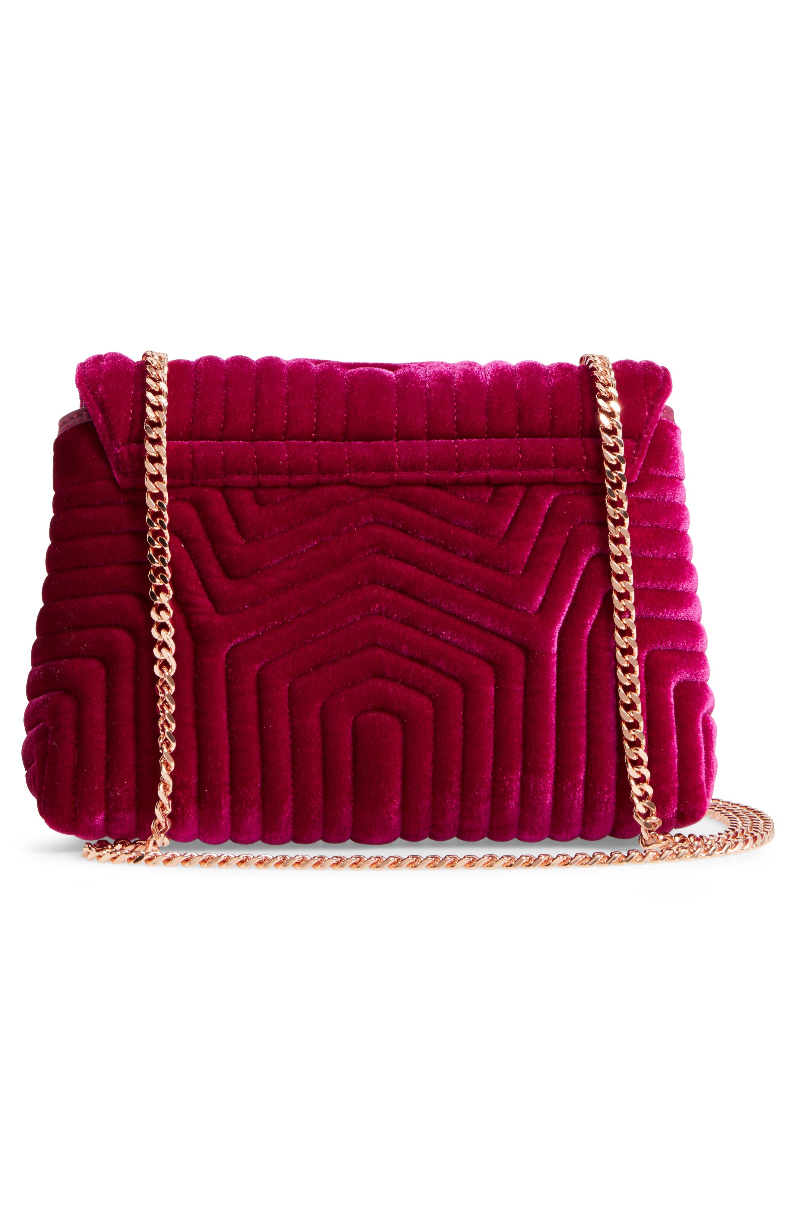 Alternate Image 3  - Ted Baker London Quilted Velvet Crossbody Bag