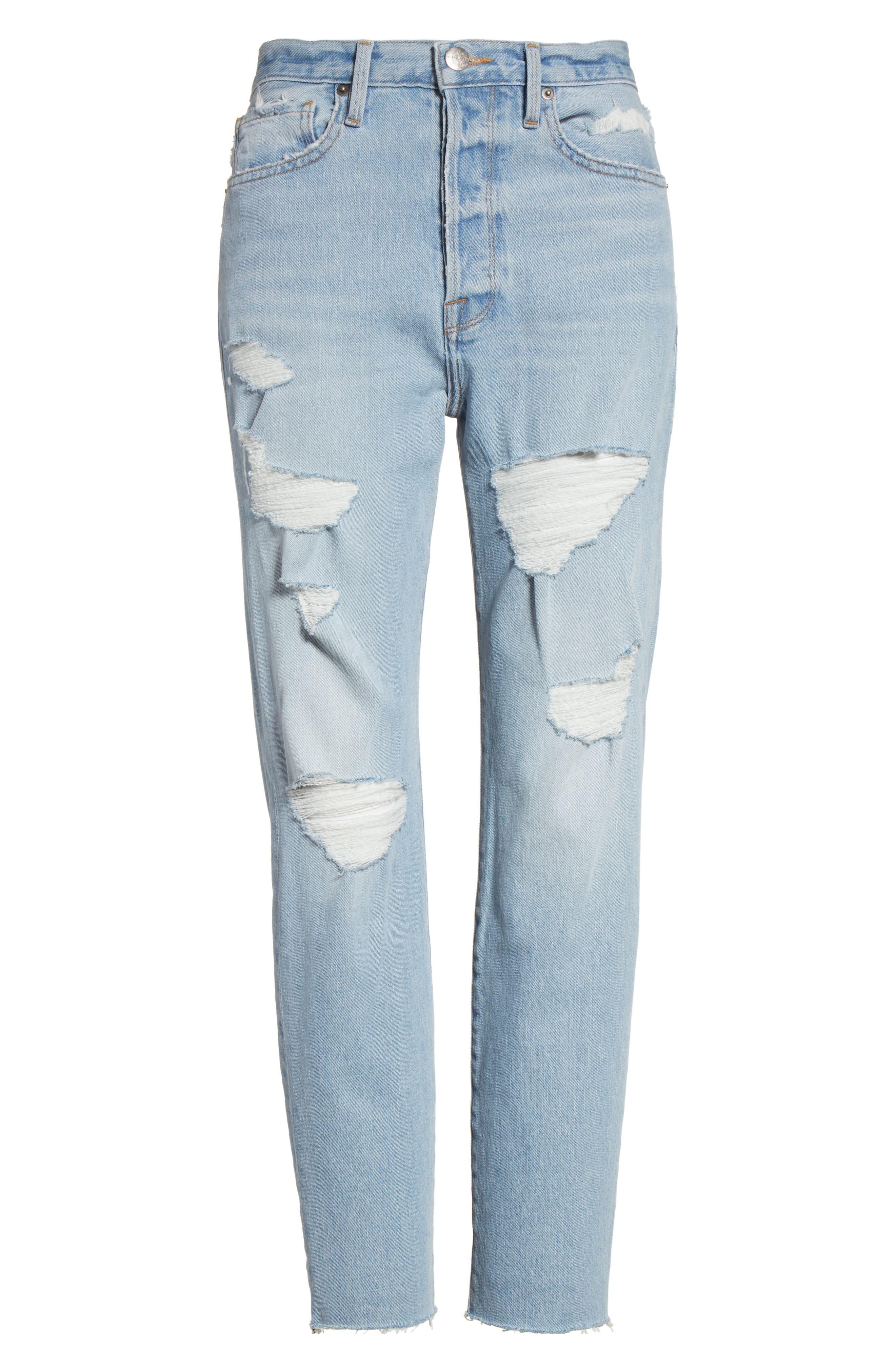 Alternate Image 7  - FRAME Le Original Raw Edge High Waist Jeans (Harrah)