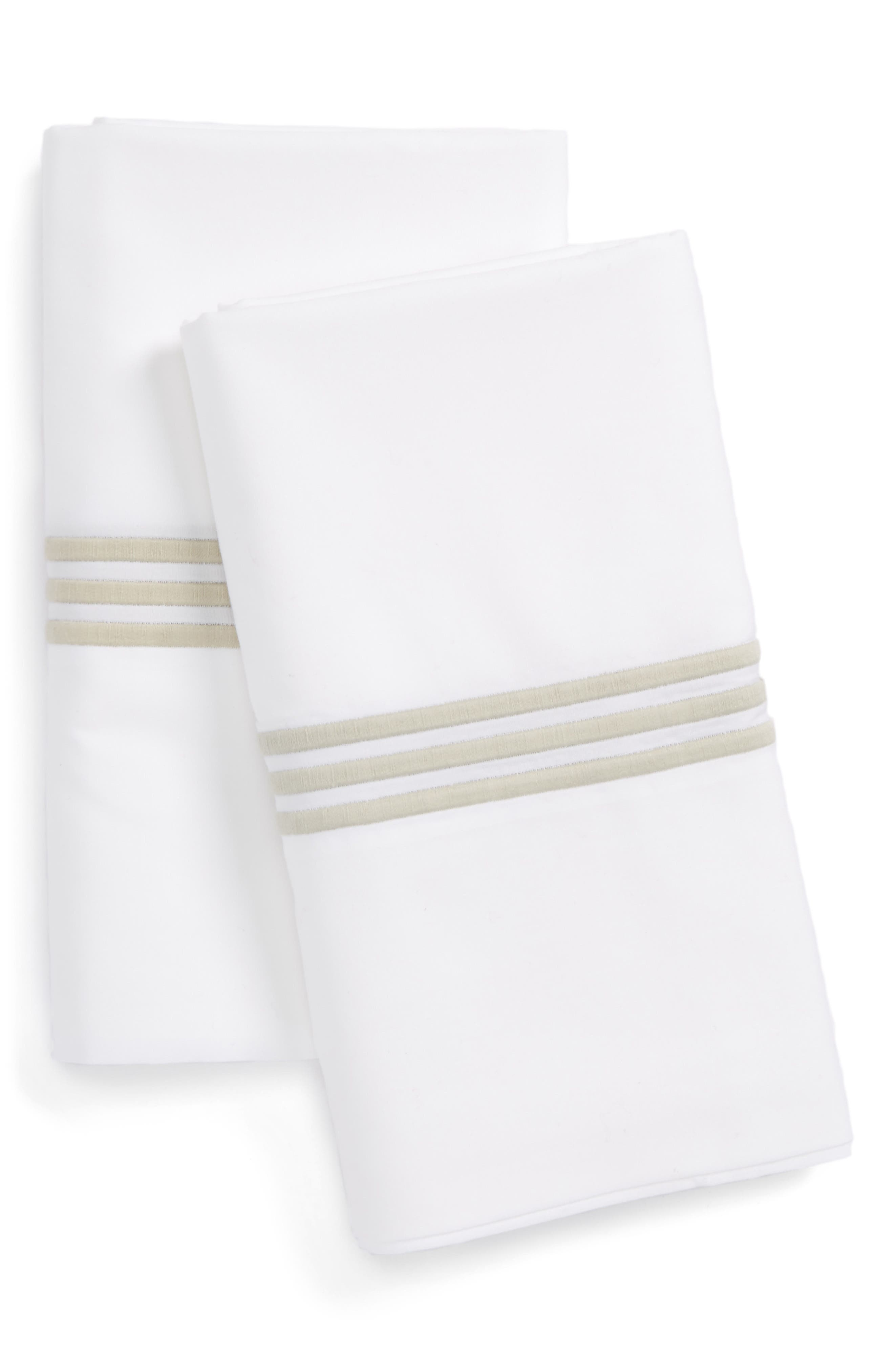 Bel Tempo Pillowcases,                         Main,                         color, Almond