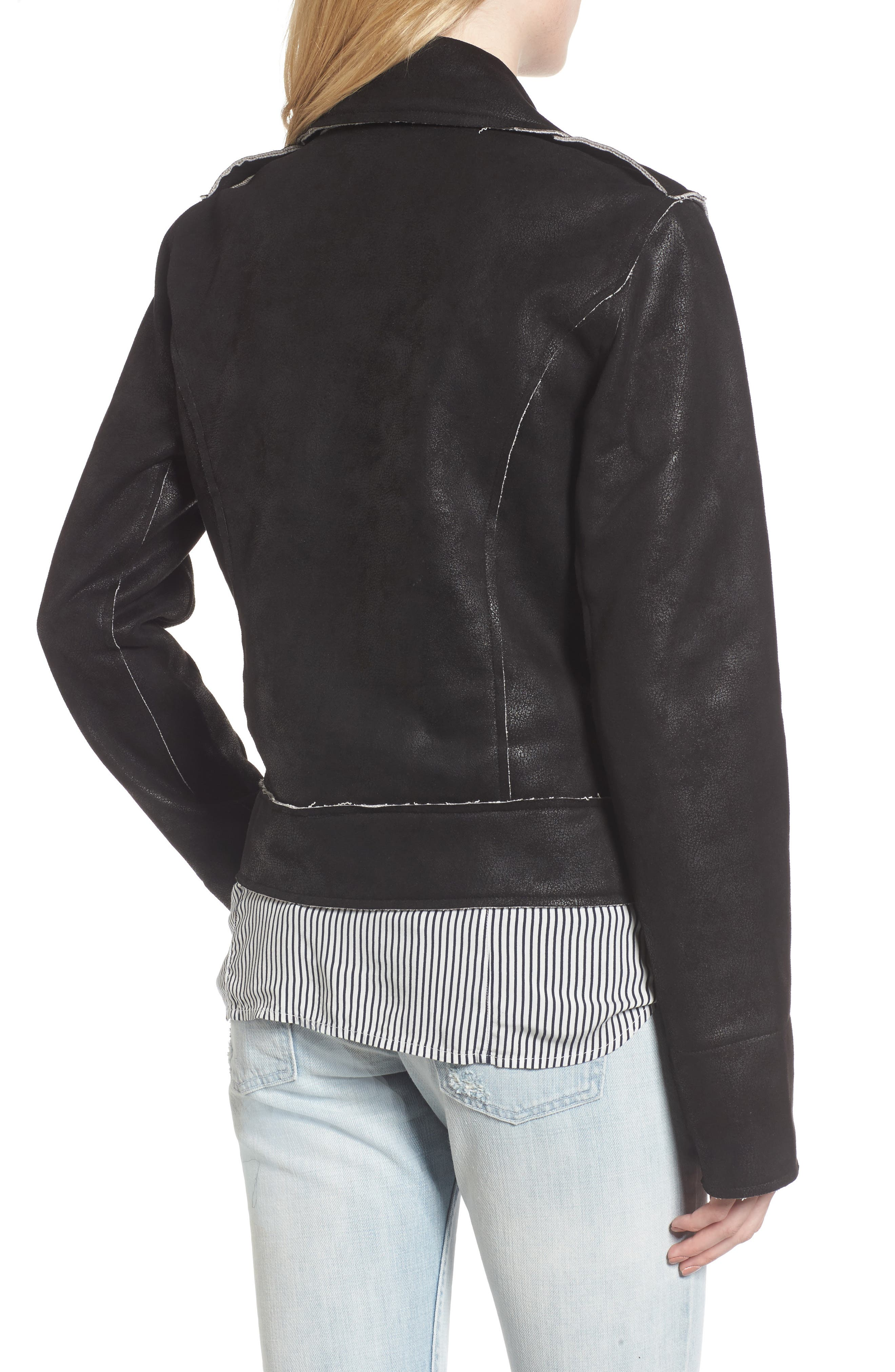 Alternate Image 2  - Splendid Faux Leather Moto Jacket