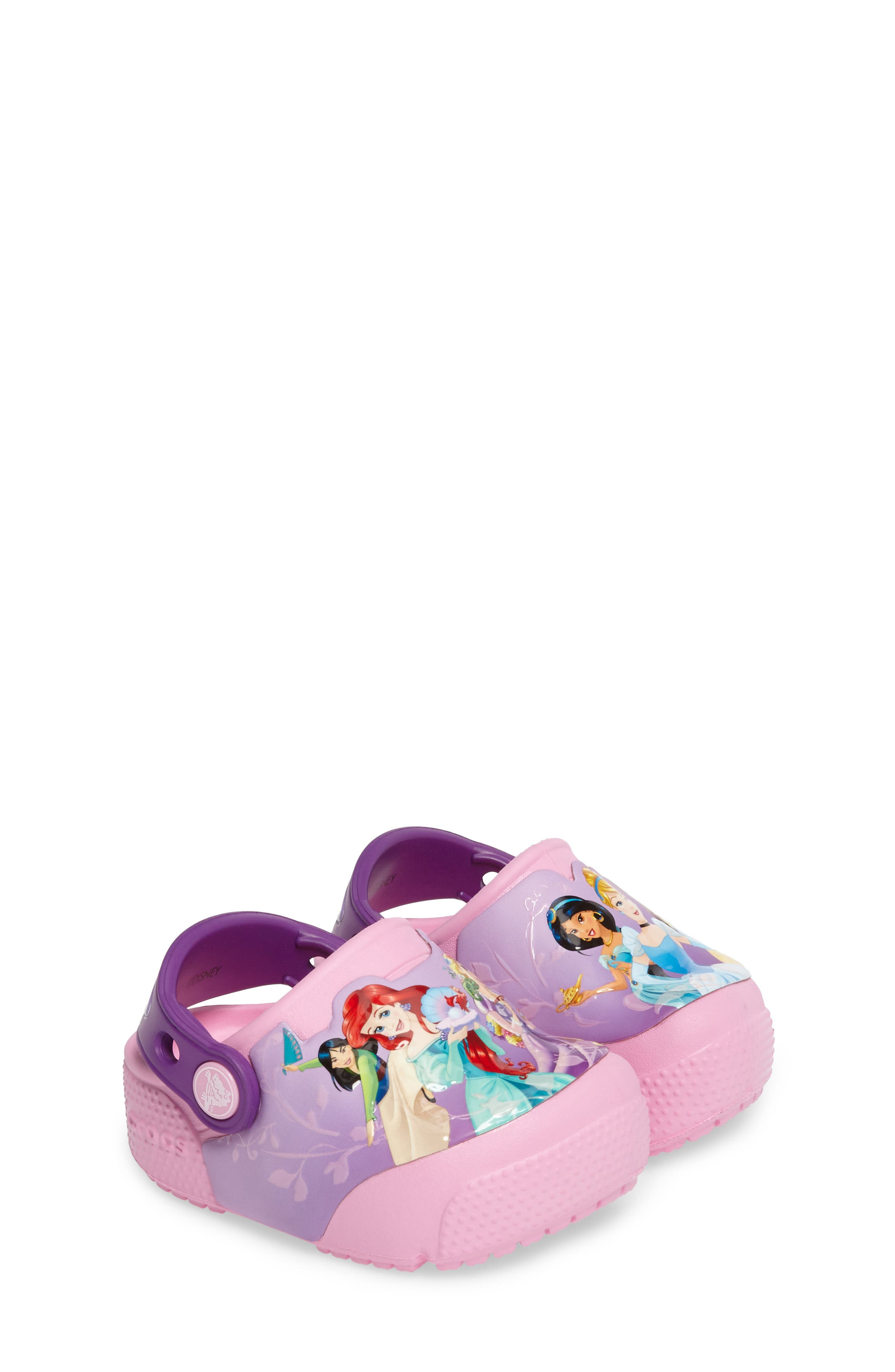 Fun ab Lights Disney<sup>®</sup> Princesses Light-Up Slip-On,                         Main,                         color, Amethyst