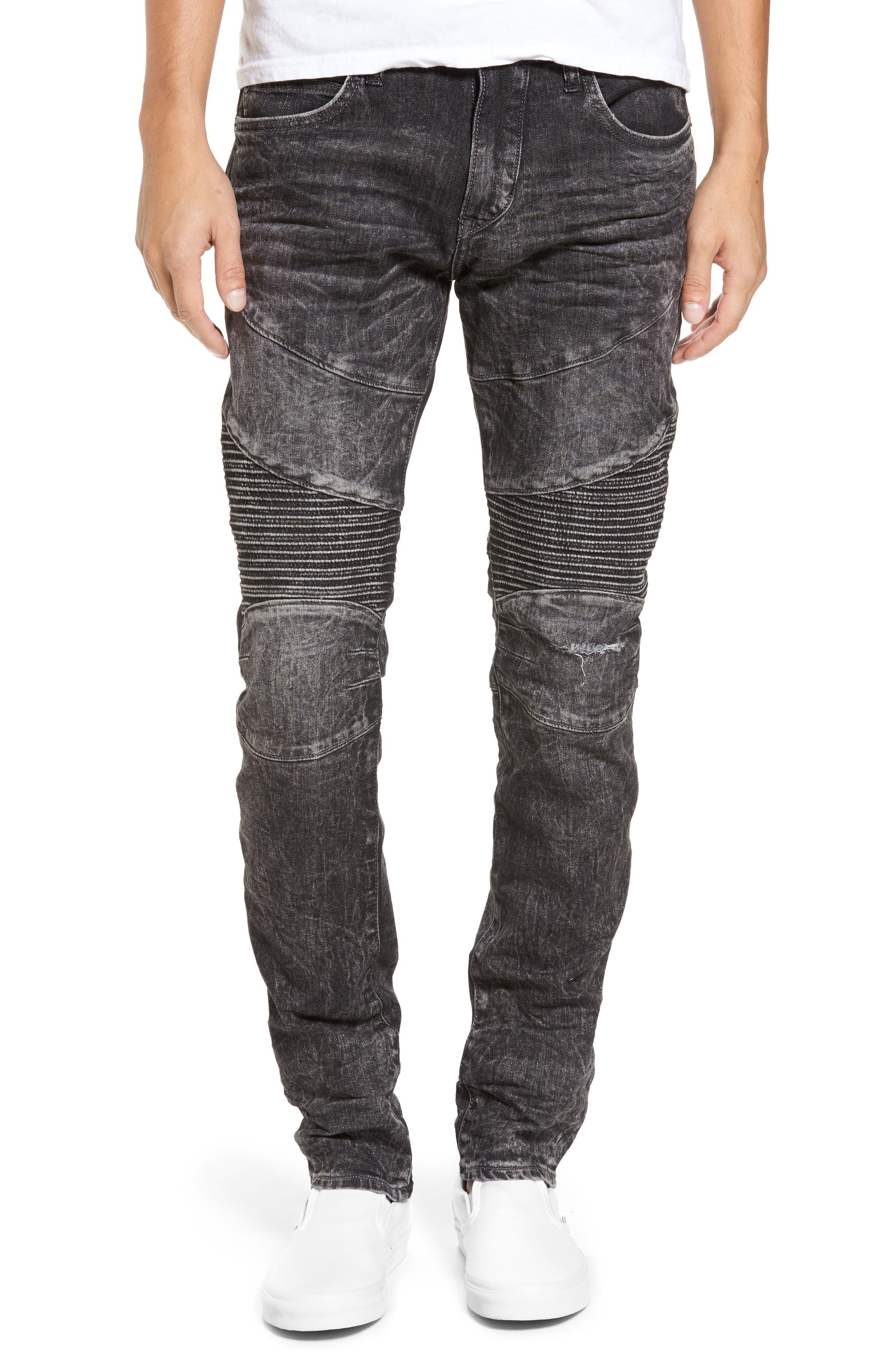True Religion Brand Jeans Rocco Skinny Fit Jeans (Dark Raven)
