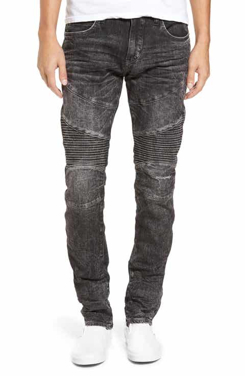 True Religion Brand Jeans Rocco Skinny Fit Jeans (Dark Raven) - Men's Skinny Jeans, Relaxed, Bootcut Fit & Selvedge Denim