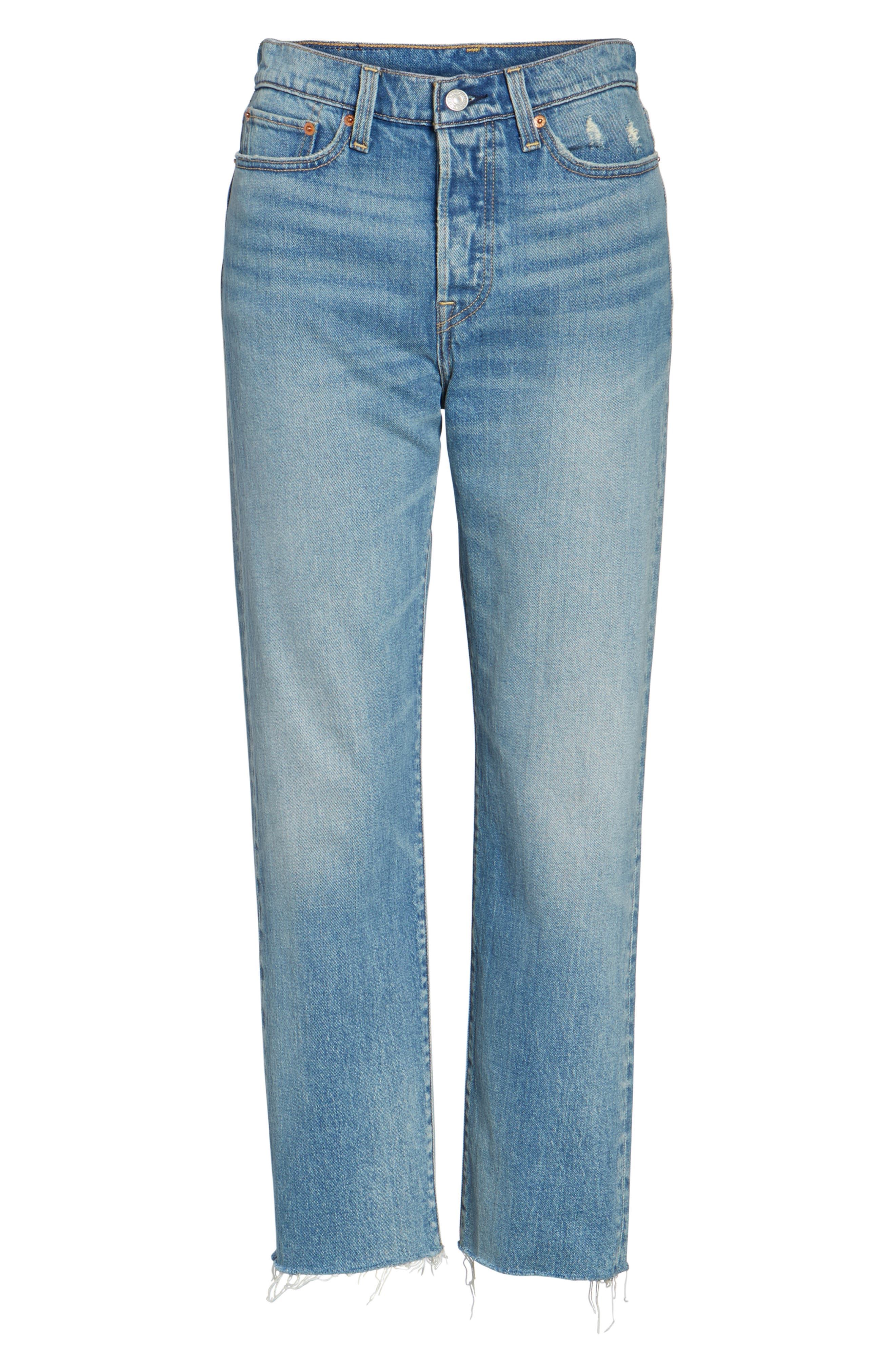 Alternate Image 6  - Levi's® Wedgie Straight Leg Crop Jeans (Rough Tide)